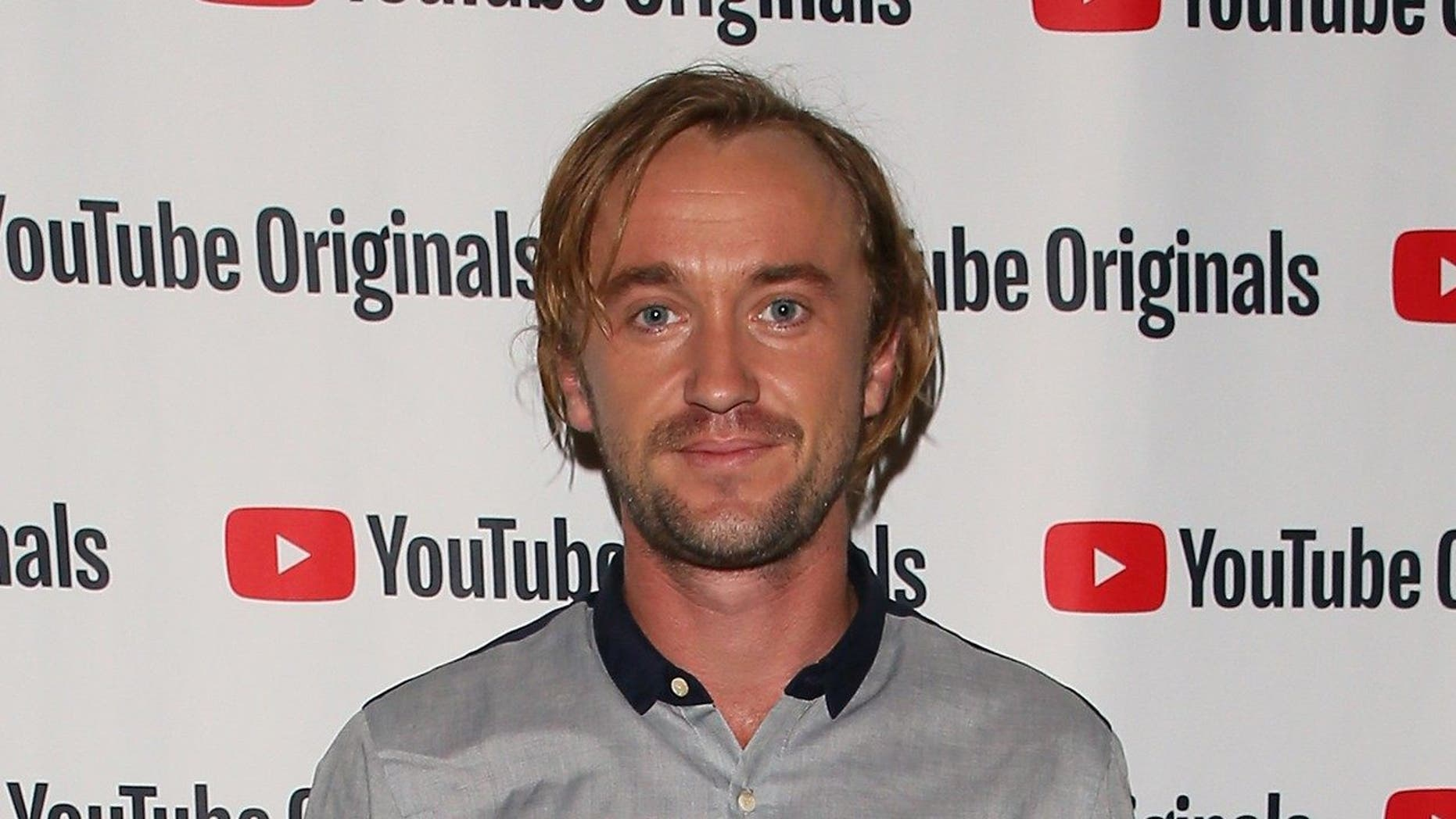 """Tom Felton sported anew look in a recent appearance on""""Good Morning Britain."""""""