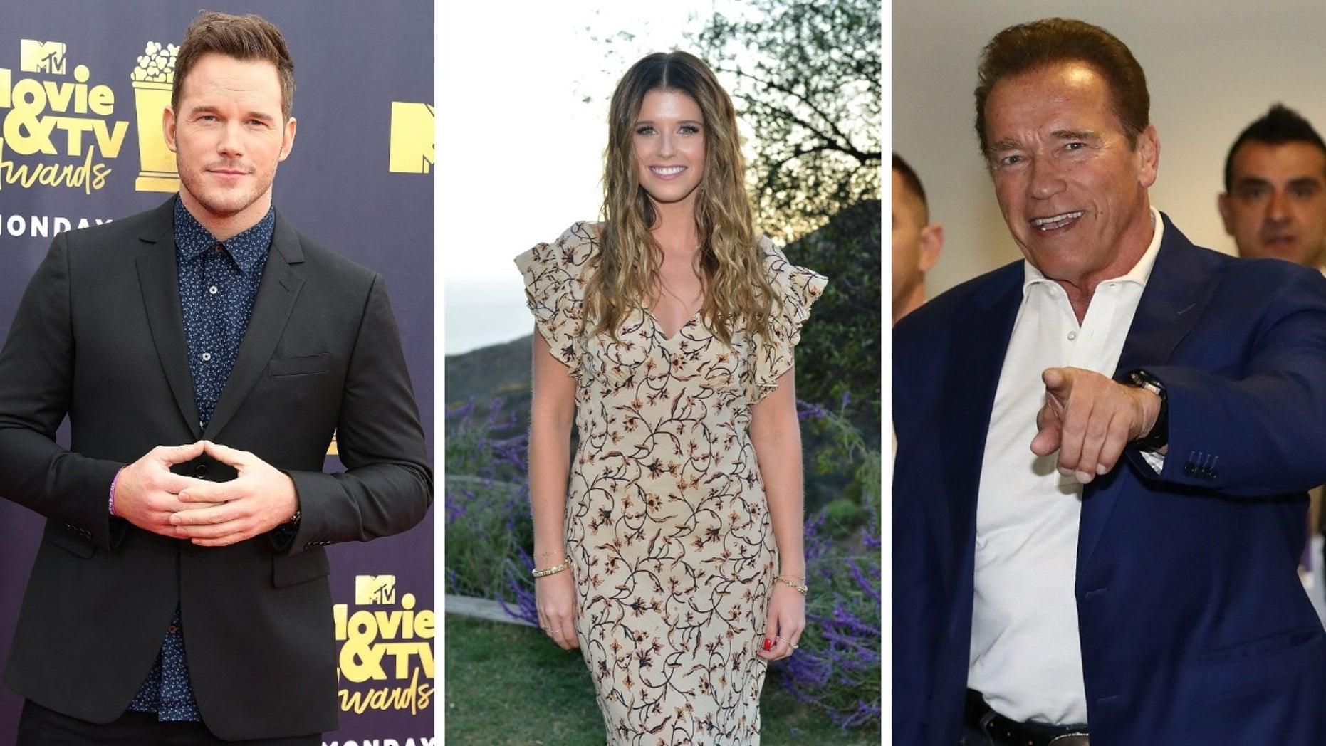 Chris Pratt and his girlfriend Katherine Schwarzenegger were spotted getting breakfast with her dad Arnold Schwarzenegger on Sunday, Nov. 11, 2018.