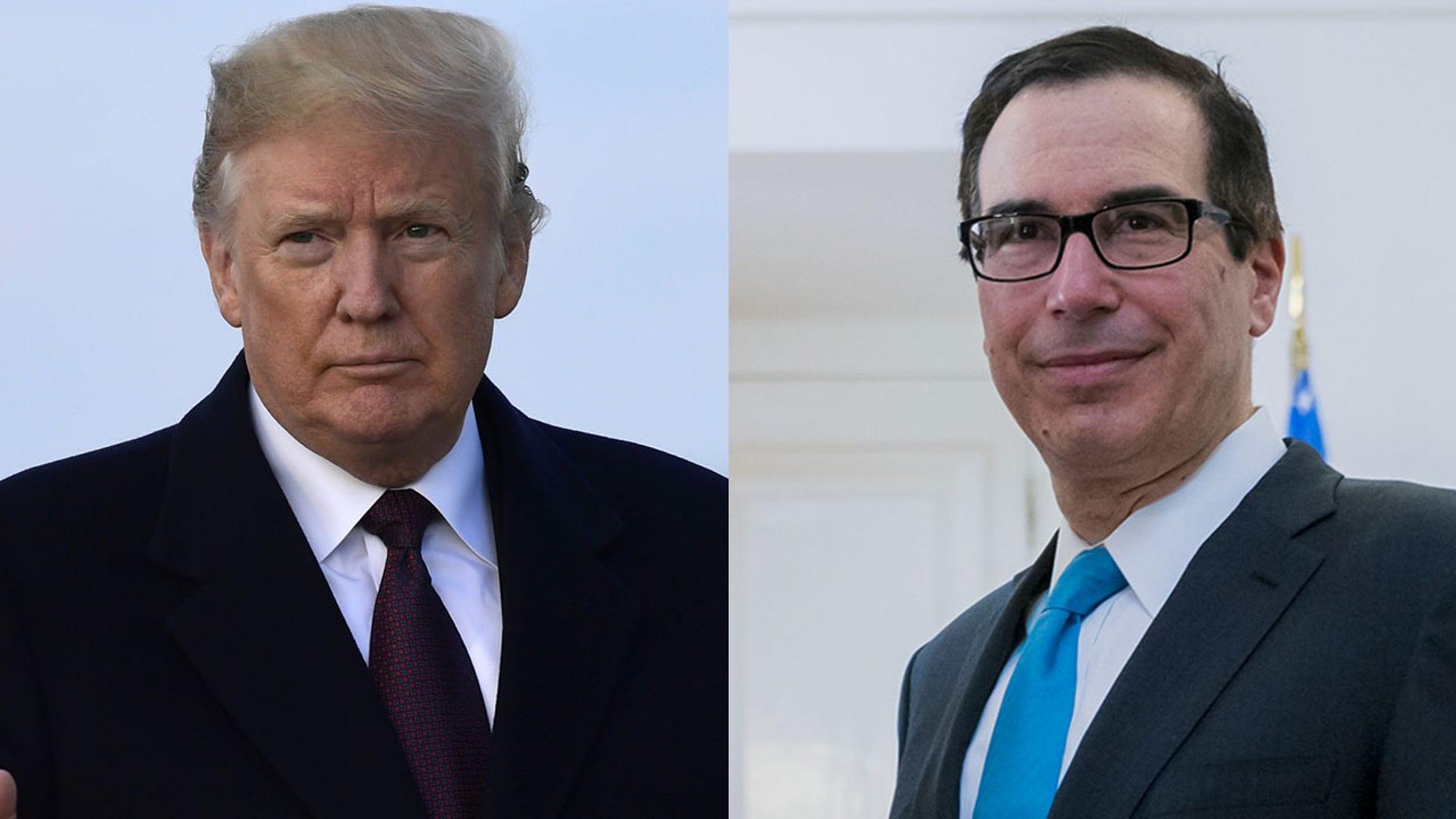 Trump Refutes Reports Alleging Dissatisfaction With Treasury Secretary Mnuchin