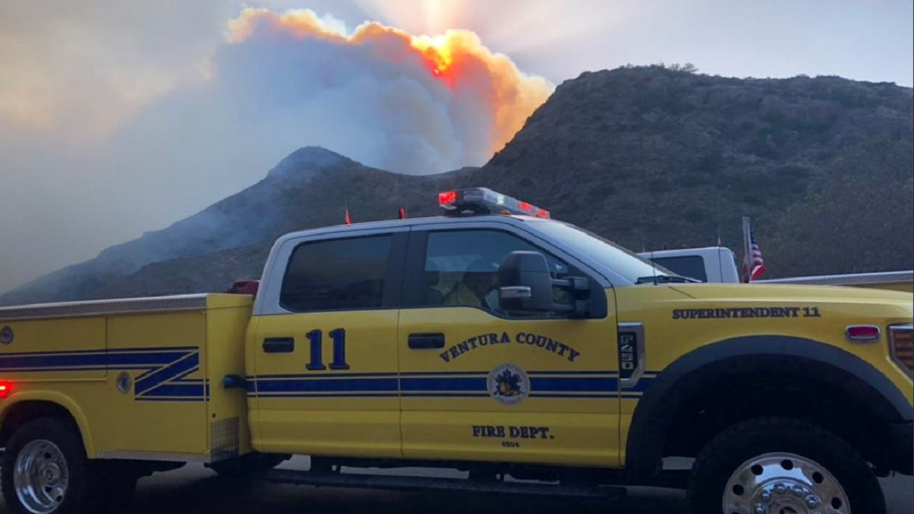 Two fires have descended on areas of Ventura County late Thursday, forcing mandatory evacuations.