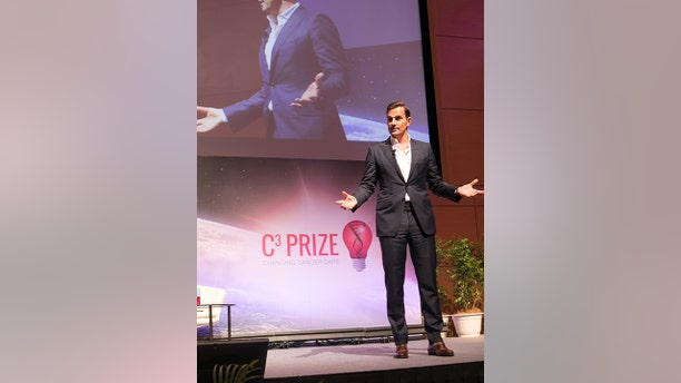 Bill Rancic on stage at the C3 Prize live pitch event .in in Kuala Lumpur, Malaysia in early October 2018.