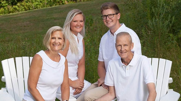 Heston's Wife June and their children, Dr. Kelsey Heston, 26 and Keegan, 22, (L-R) are tending to their father after he recently stopped treatment and returned home for hospice care.