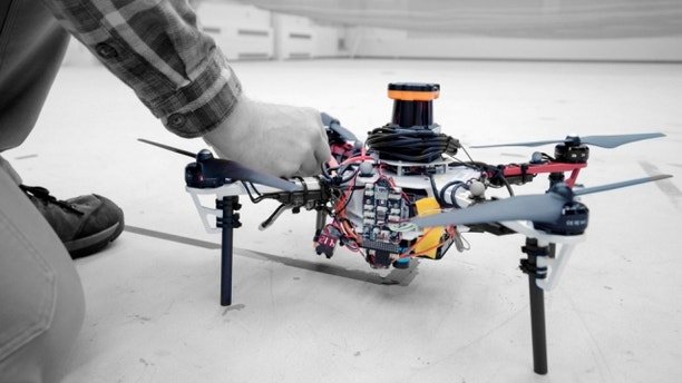MIT researchers say that an autonomous drone fleet could help find lost hikers. (Melanie Gonick)