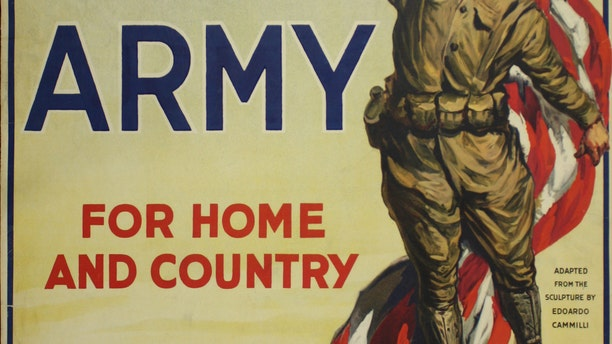 A World War I U.S. Army recruitment poster (National WWI Museum and Memorial)