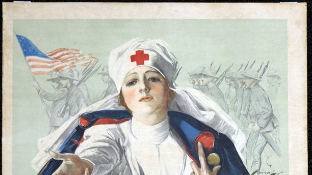 World War I Red Cross poster.