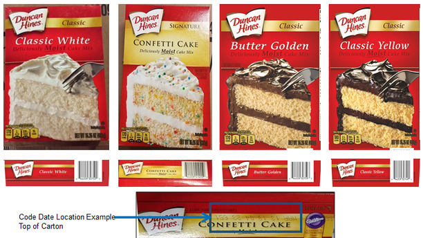 A total of four cake mix flavors are being recalled.