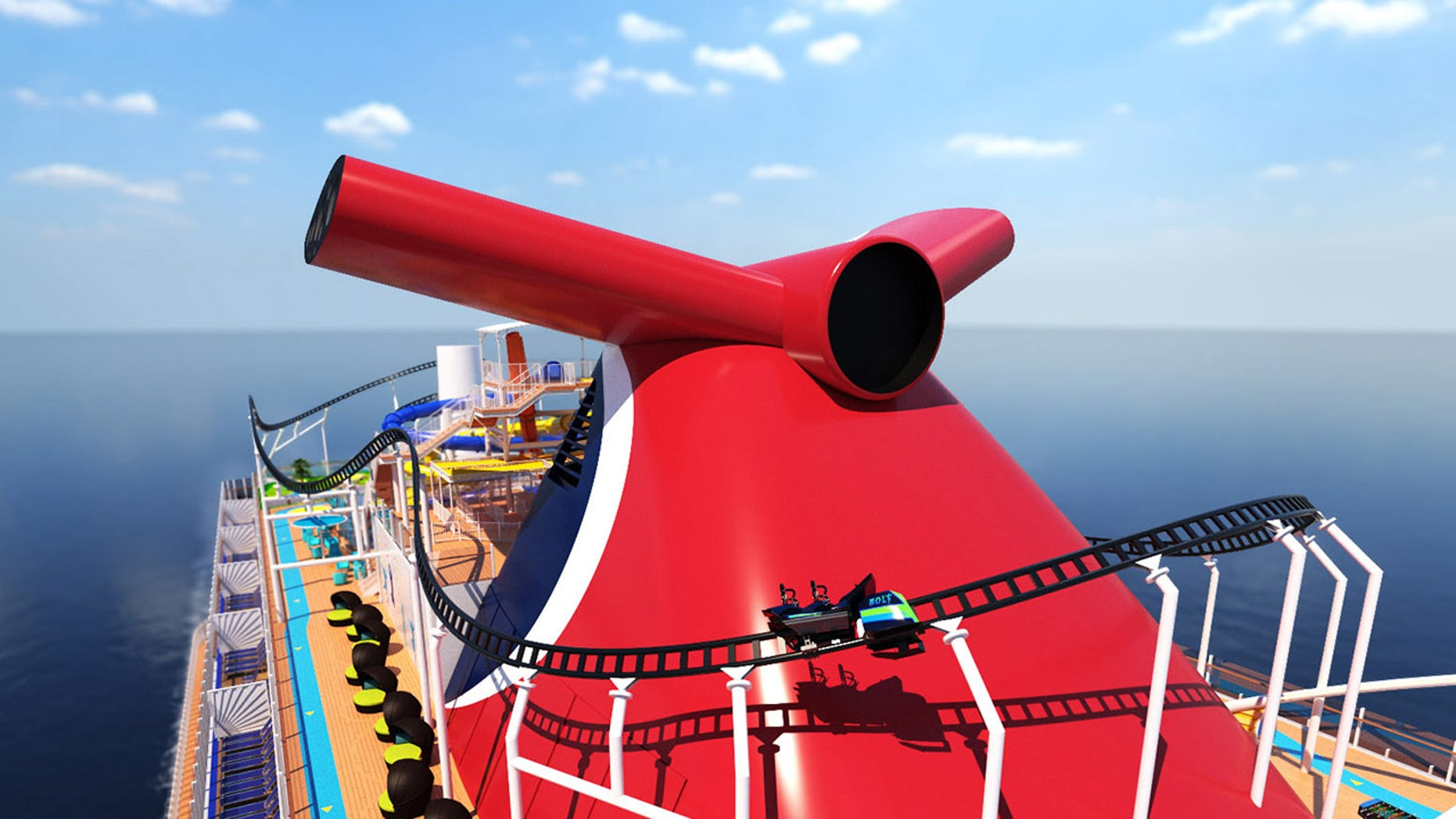 ROLLER COASTER AT SEA: Carnival announces roller coaster on new cruise ship