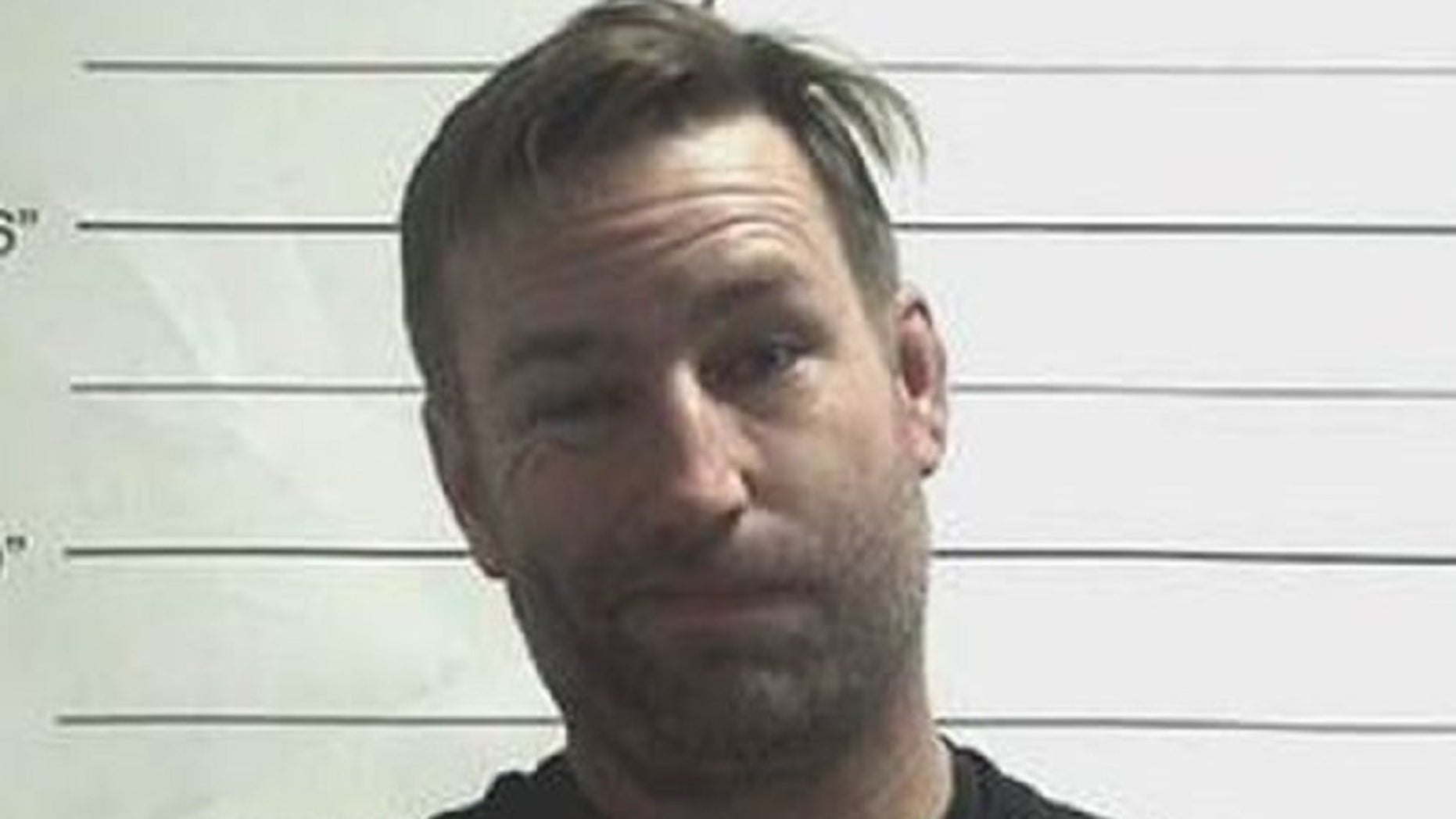 """Sean Harrington, 45, allegedly spraypainted the word """"cocaine""""throughout Bourbon Street while wearing a shirt with the word """"cocaine"""" spraypainted on it, according to court record records."""