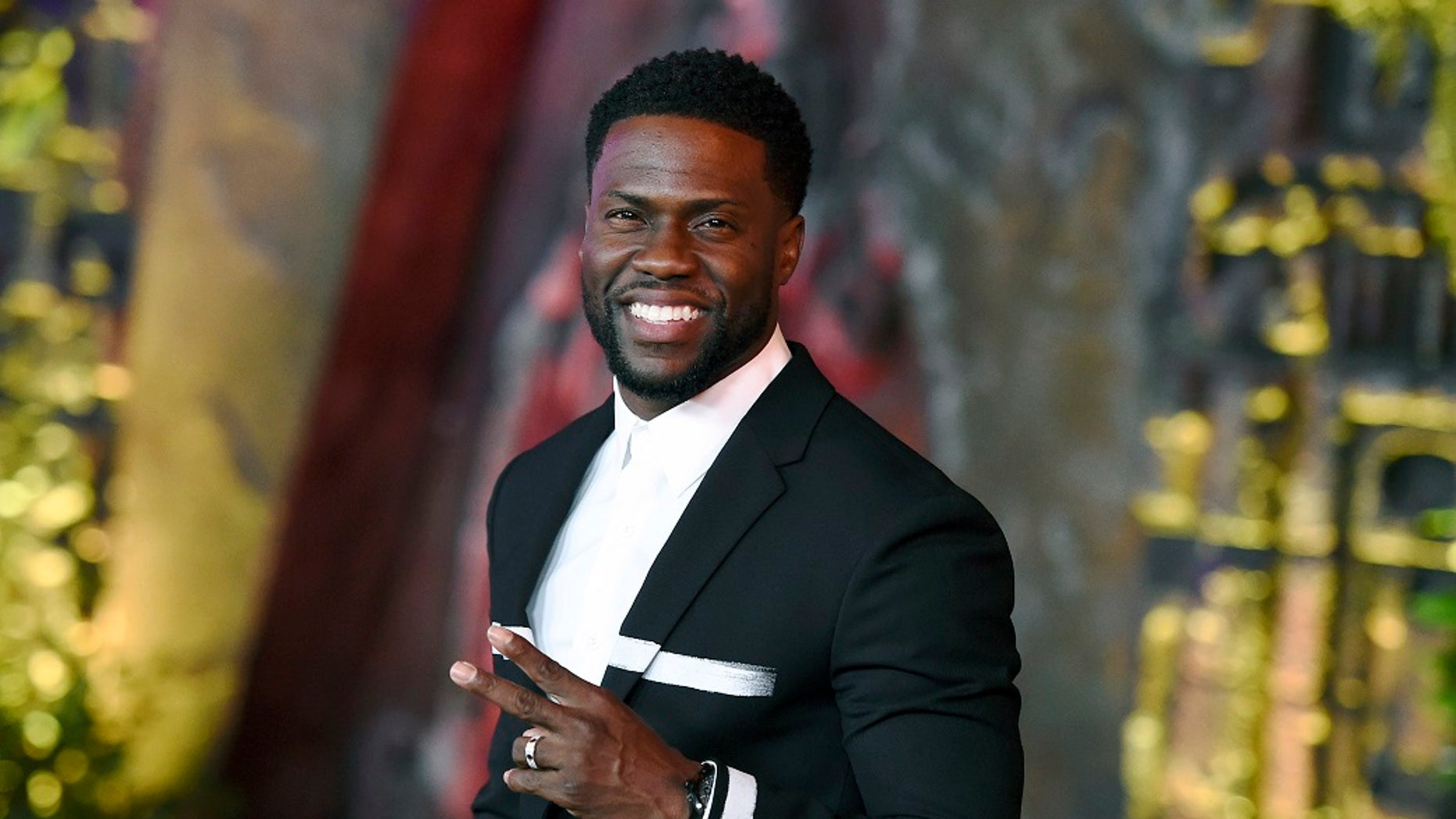 """Kevin Hart arrives at the Los Angeles premiere of """"Jumanji: Welcome to the Jungle"""" in Los Angeles."""