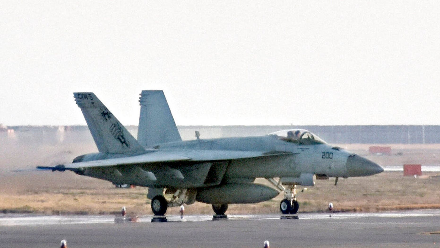 FILE: A F/A-18 jet at United States Marine Corps air station in Iwakuni, western Japan.