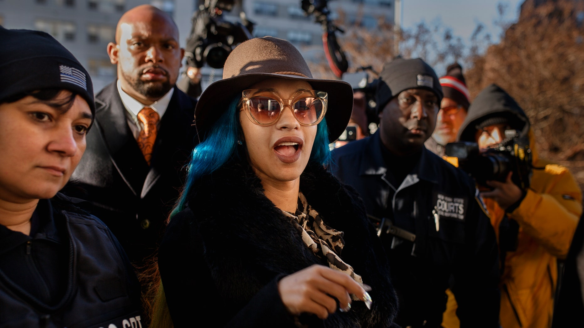 Cardi B makes court appearance over strip club brawl in Queens