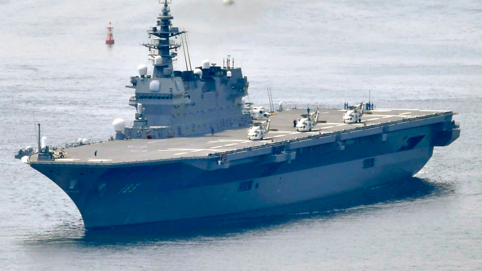 FILE: Japanese Maritime Self-Defense Force's helicopter carrier Izumo.