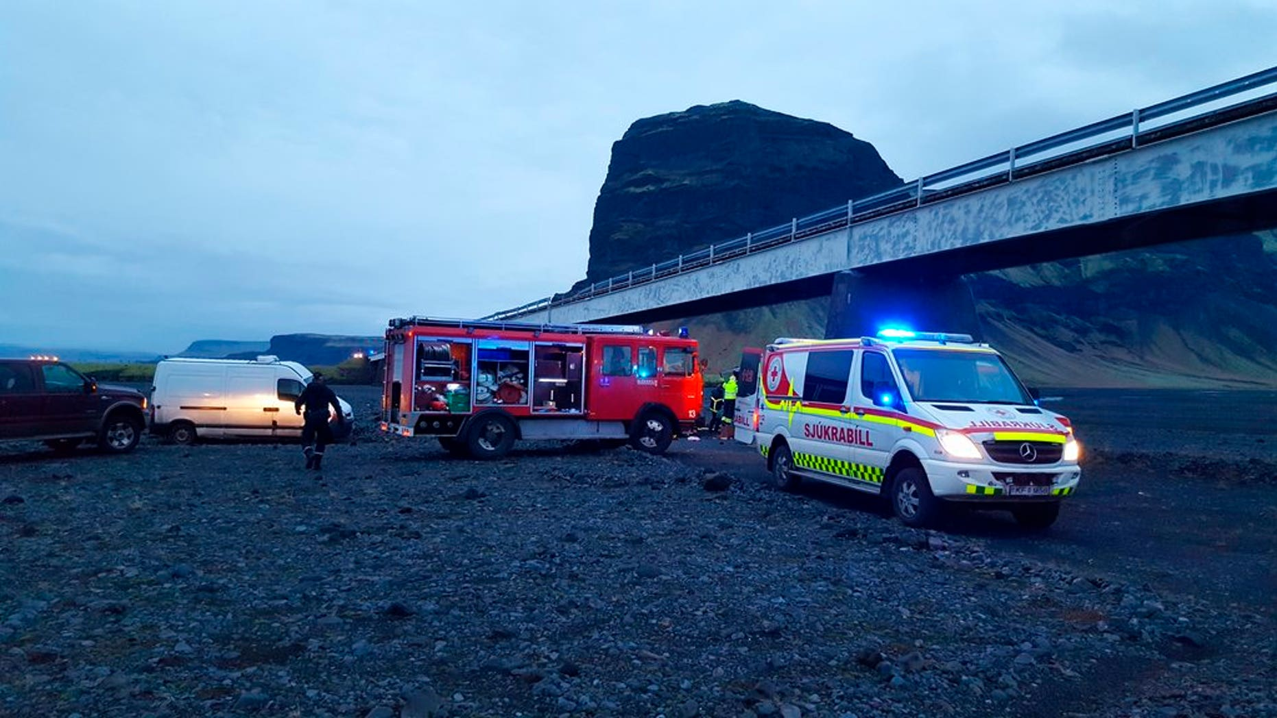 An SUV carrying seven members of a British family plunged off a high bridge Thursday in Iceland, killing three people and critically injuring the others, authorities said.