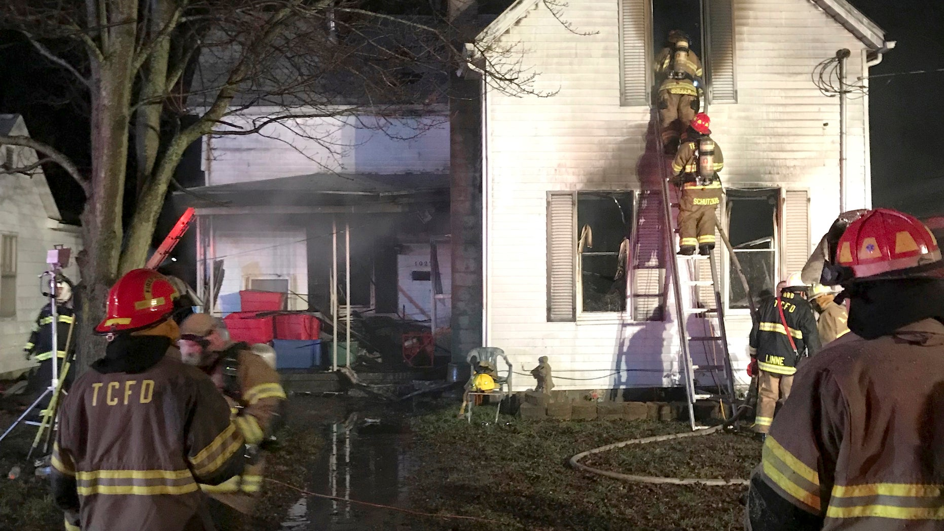 Southern Indiana house fire kills 3 young siblings, hospitalizes mom