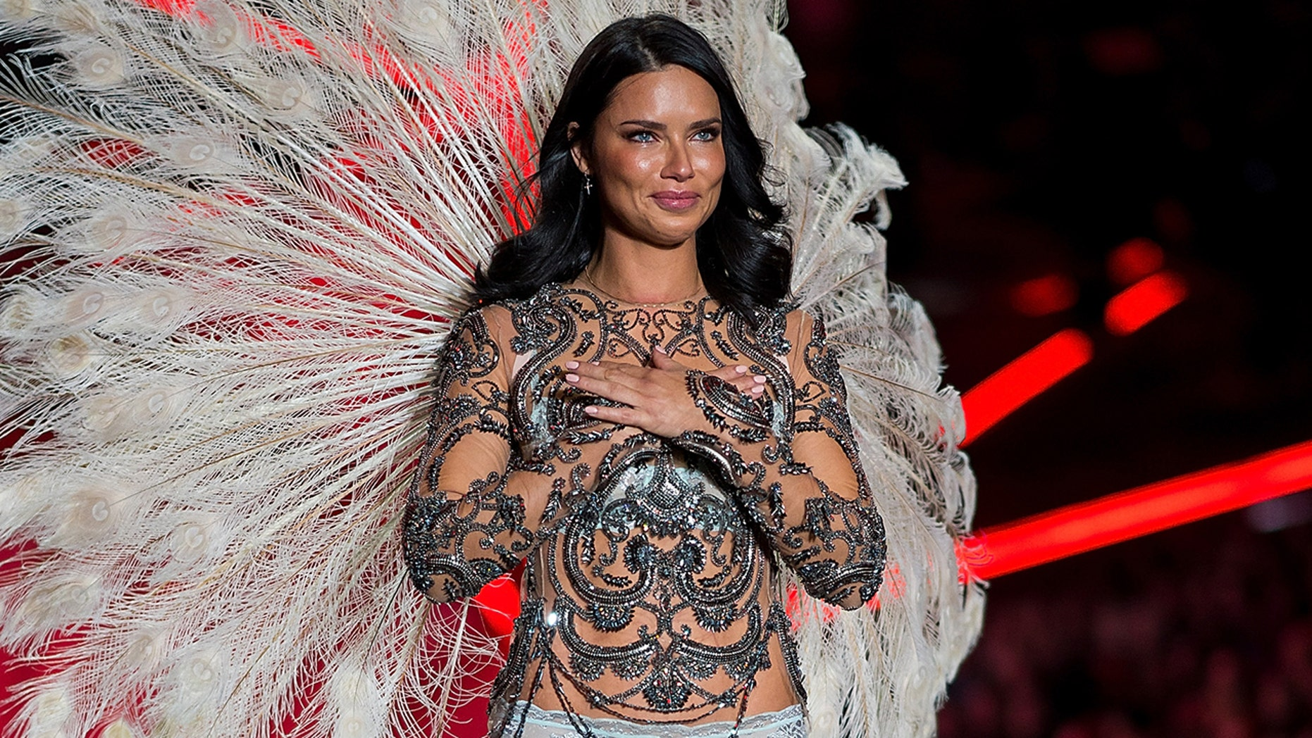Adriana Lima walks the runway during the 2018 Victoria's Secret Fashion Show at Pier 94 on November 8, 2018 in New York City.