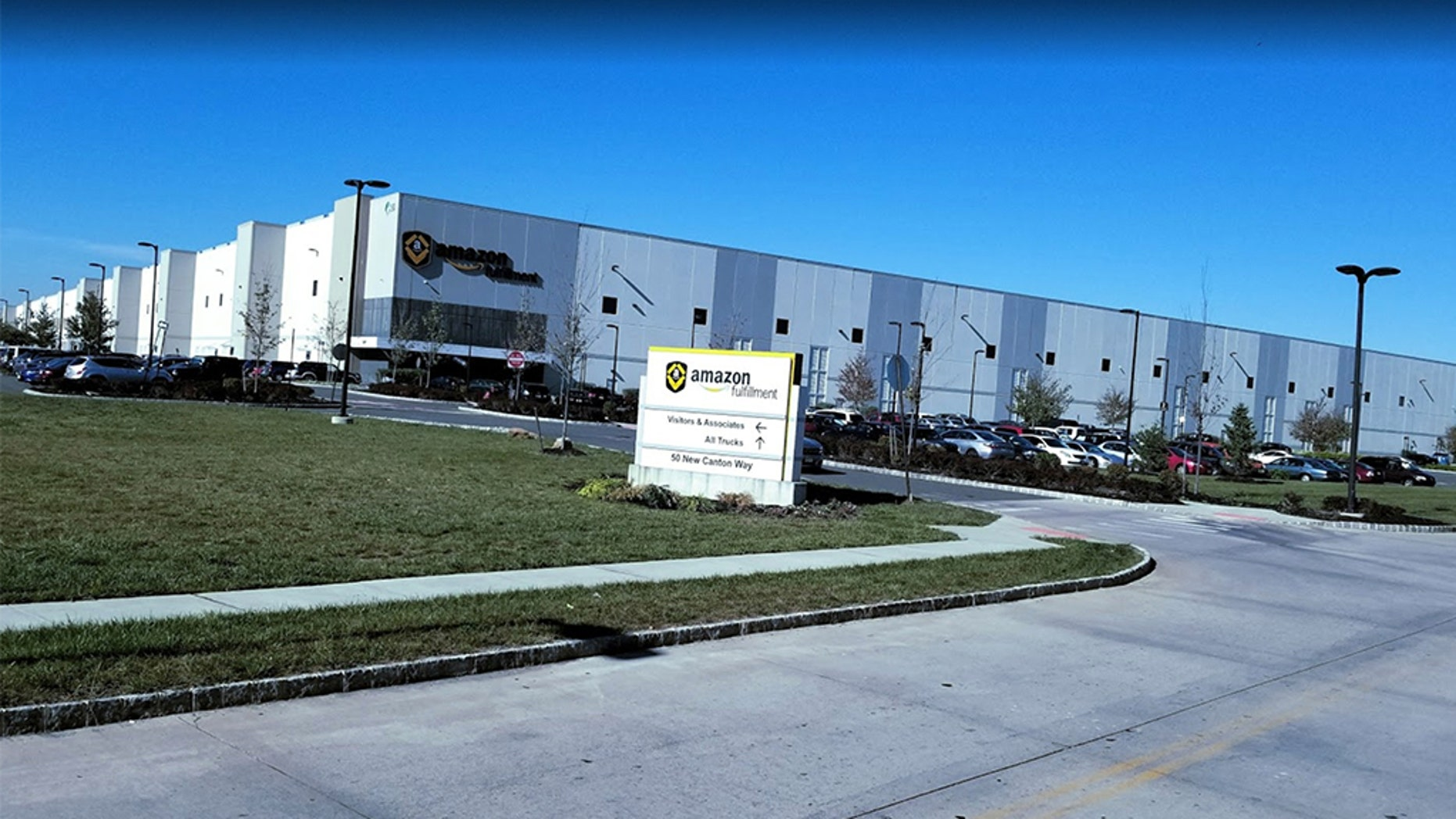 Officials say a total of 54 workers at the Robbinsville facility (pictured) experienced difficulty breathing and burning in the throat and eyes after an automated machine pierced a 9 oz. can of bear repellent at approximately 8:45 a.m.