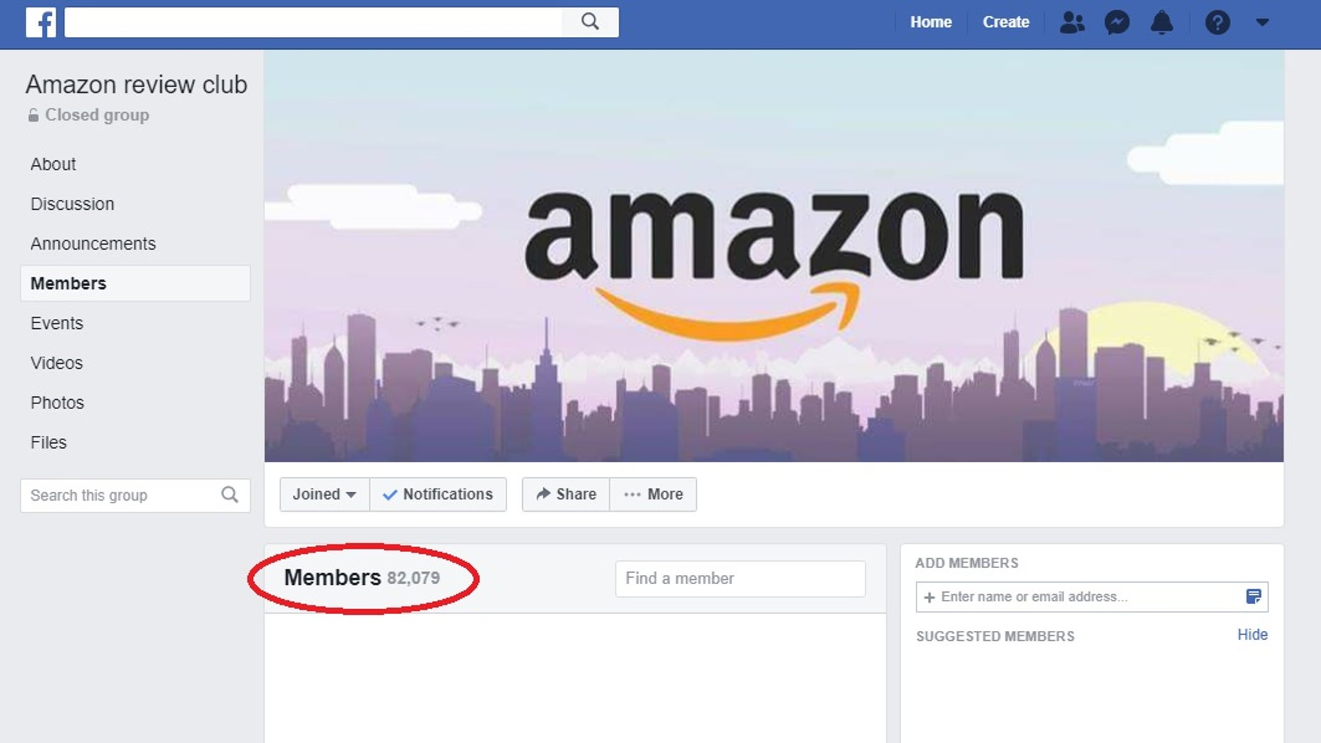 A screenshot of a Facebook group where Amazon reviews are bought and sold. Membership in this particular group stands at more than 82,000 as of December 13, 2018. While the practice is prohibited by both Facebook and Amazon, one victim tells Fox News that the current safeguards at both companies have done little to protect their bottom line. (Facebook/Fox News)
