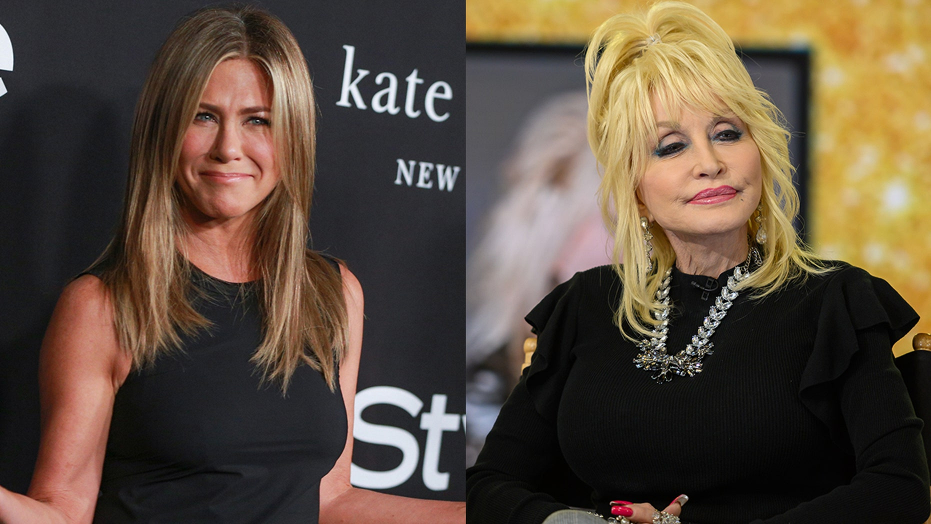 "Jennifer Aniston responded to Dolly Parton's shocking statement on ""The Tonight Show."""