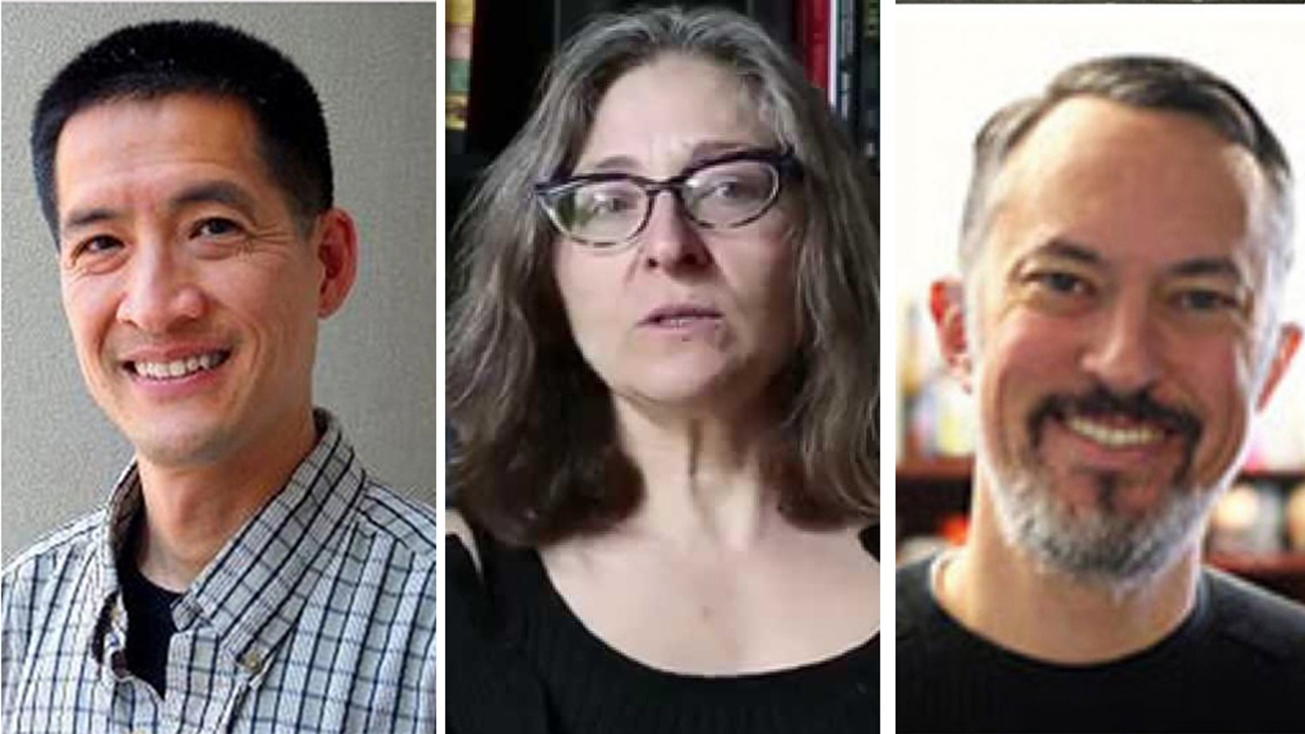 Dr. Tat-siong Benny Liew (left), Dr. Carol Christine Fair (middle), and Dr. Matthew Gabriele are just a few professors who made the list this year.