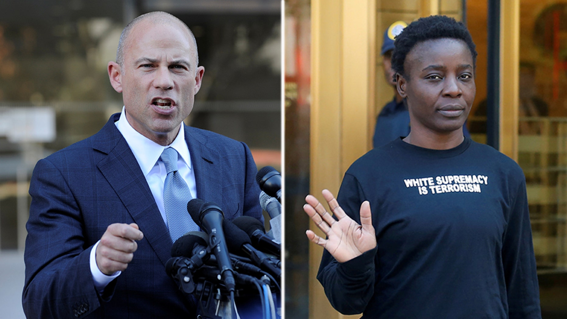 Attorney Michael Avenatti and Patricia Oukoumou
