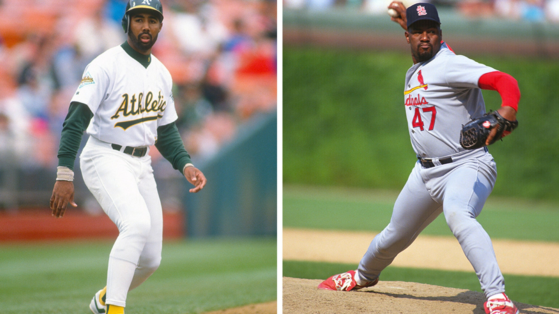 Harold Baines, left, and Lee Smith wereelected to baseball's Hall of Fame.