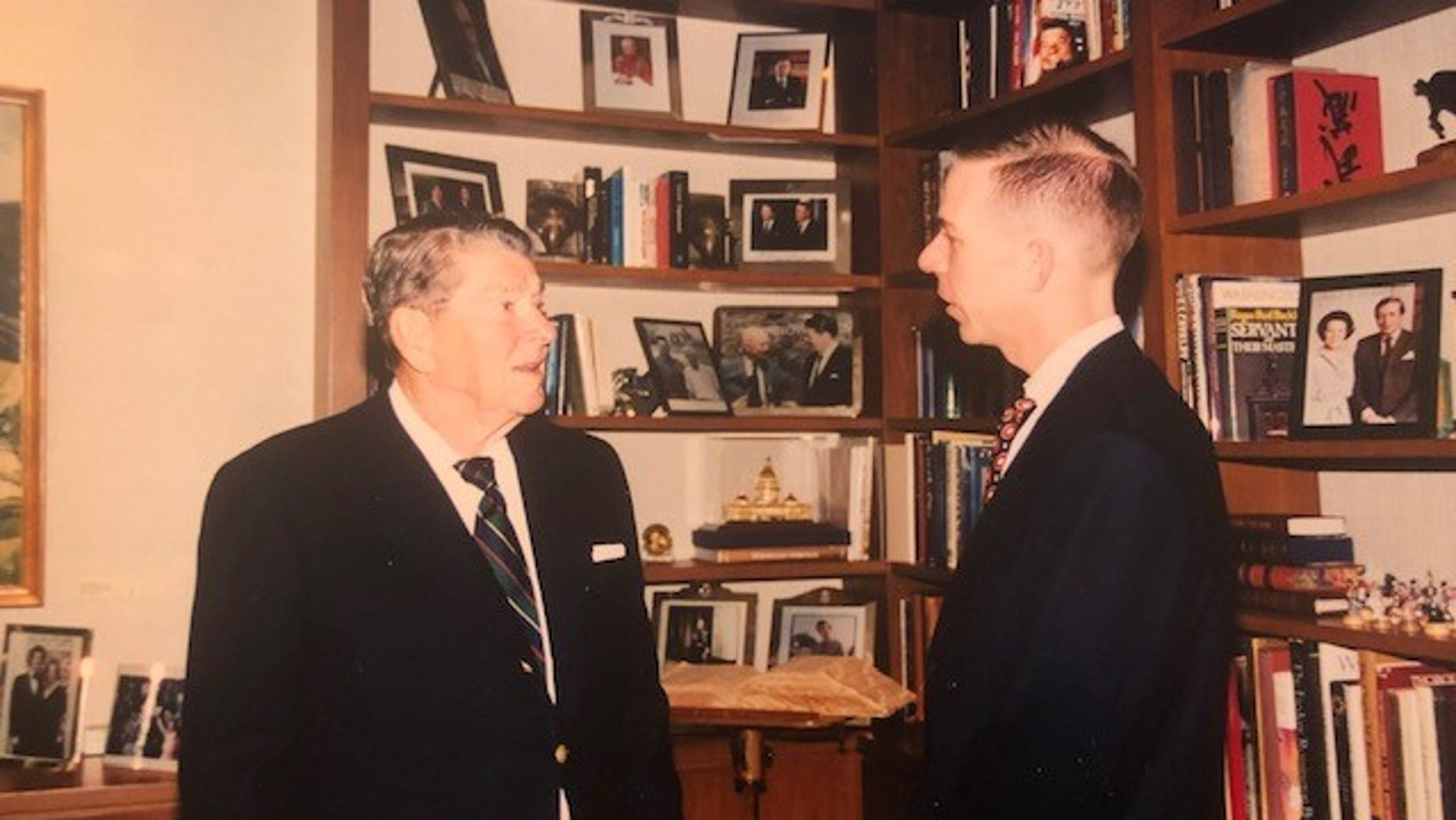 The author meets former President Ronald Reagan, 1997, Los Angeles, Calif.
