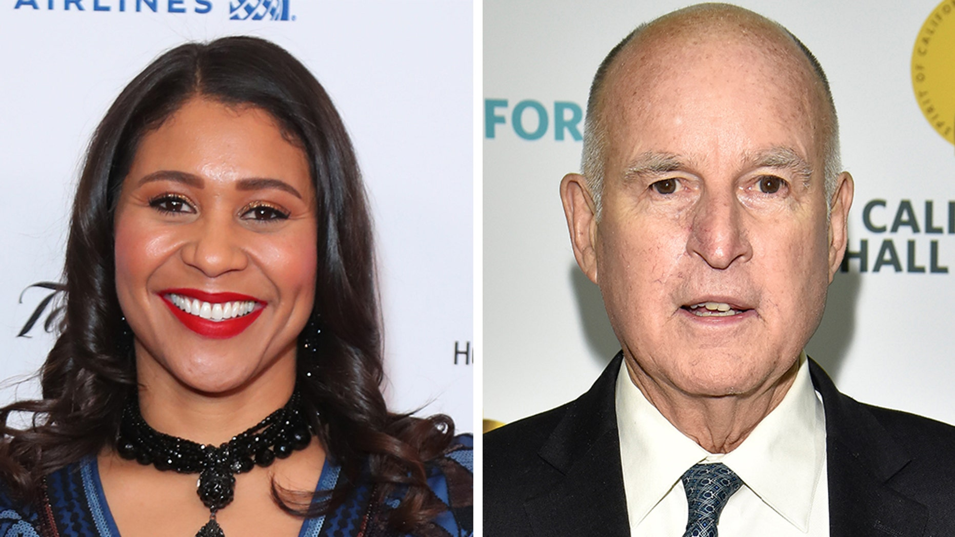 "California Gov. Jerry Brown, right, turned down the request of San Francisco Mayor London Breed, who asked him in late October to ""consider leniency"" and commute the manslaughter sentence of her older brother Napoleon Brown, who struggled with drugs from a young age. (Getty)"