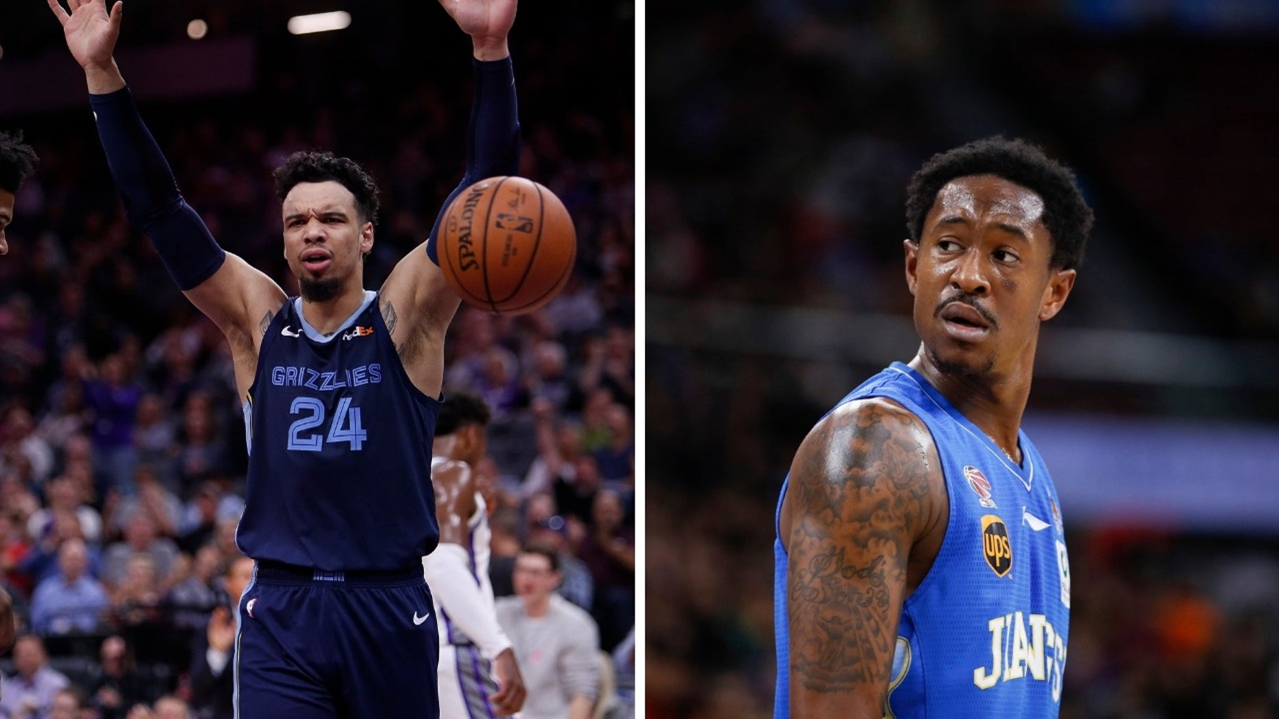 A deal was dead after team officials couldn't decide whether Dillon Brooks [left] or MarShon Brooks [right] was included in the trade.