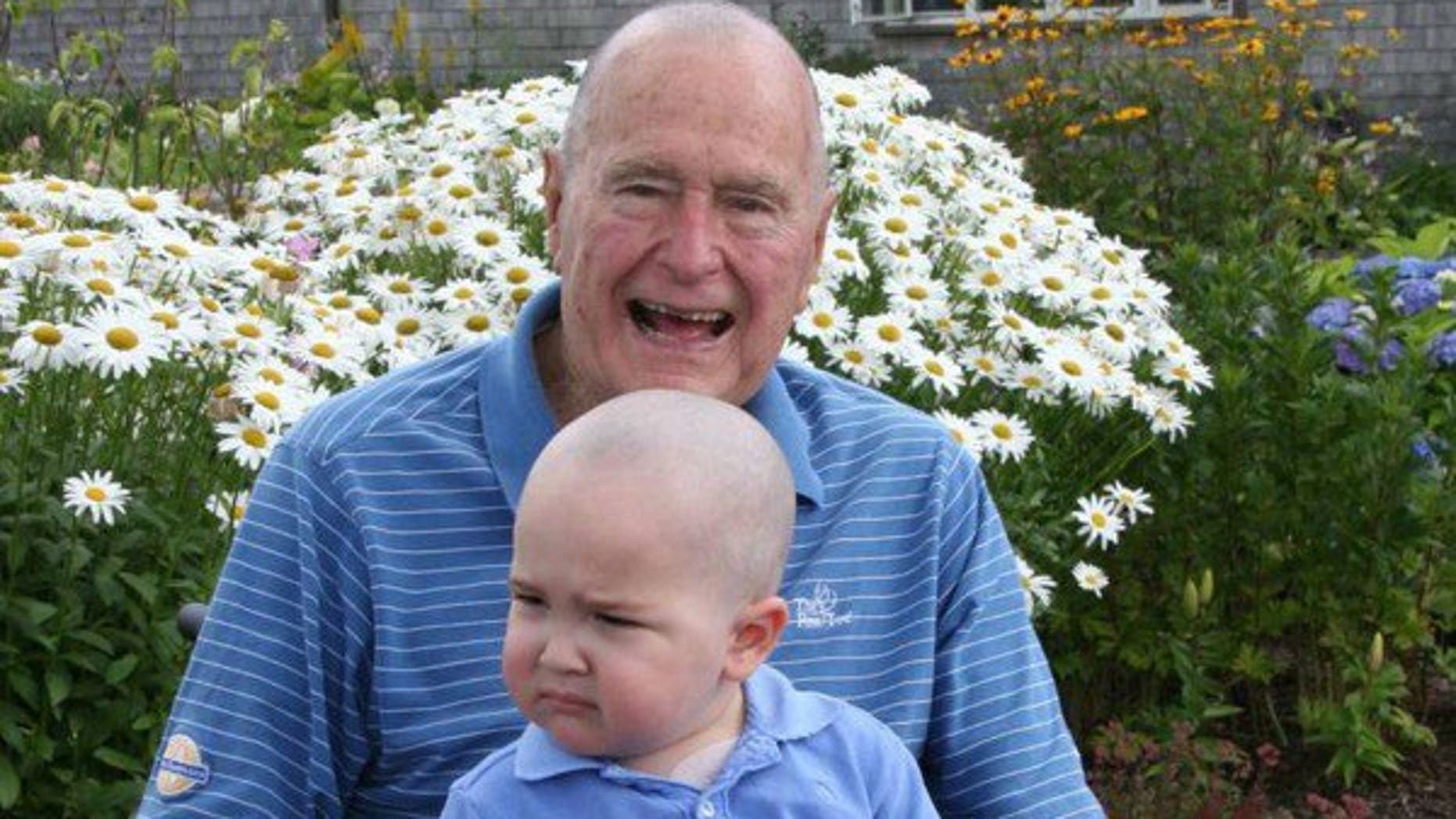 Former President George H.W. Bush shaved his head in 2013 along with his Secret Service detail in solidarity with an agent's 2-year-old son who was diagnosed with leukemia.