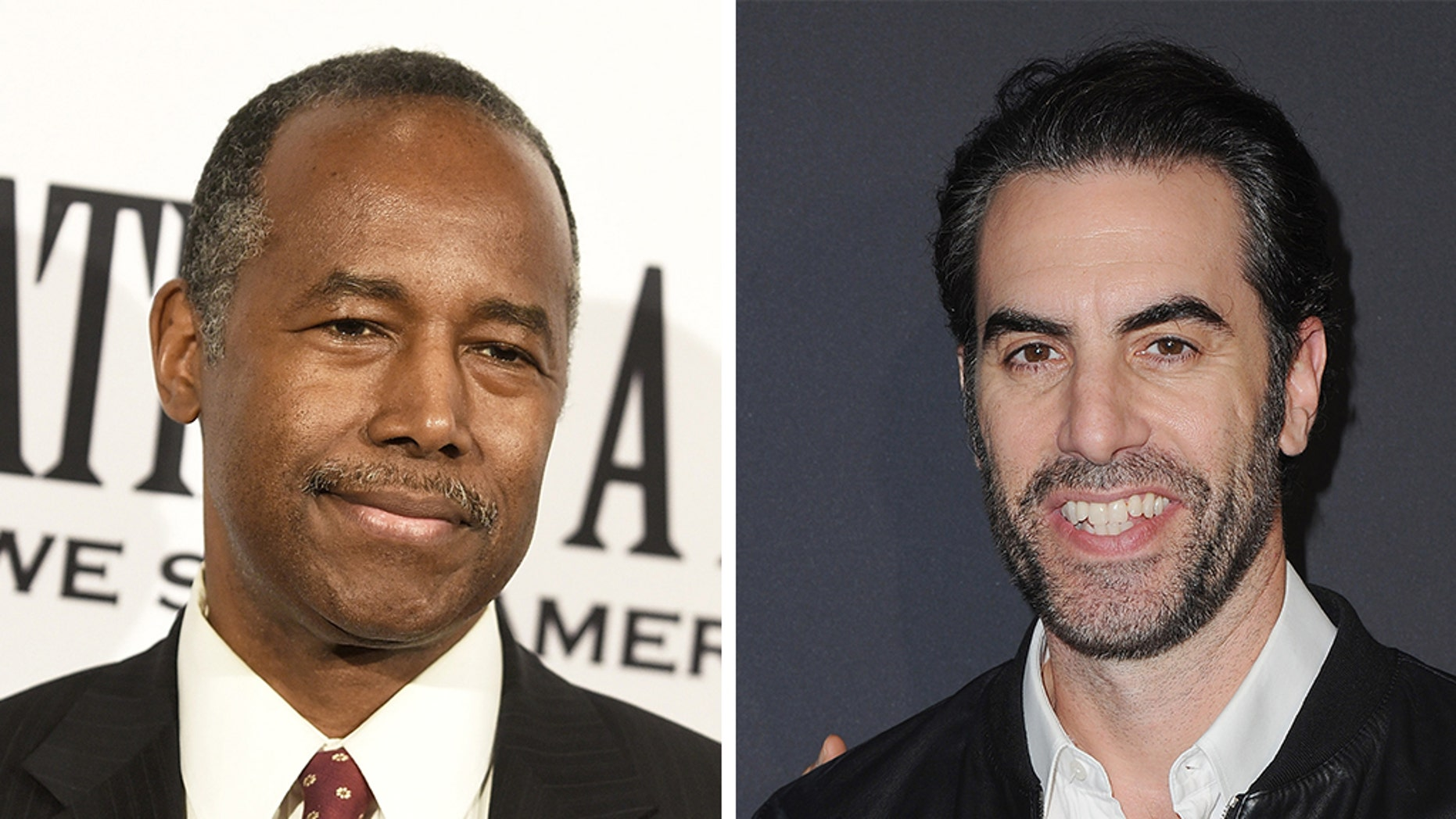 Sacha Baron Cohen said he was close to Ben Carson, the Secretary of Housing and Urban Development.