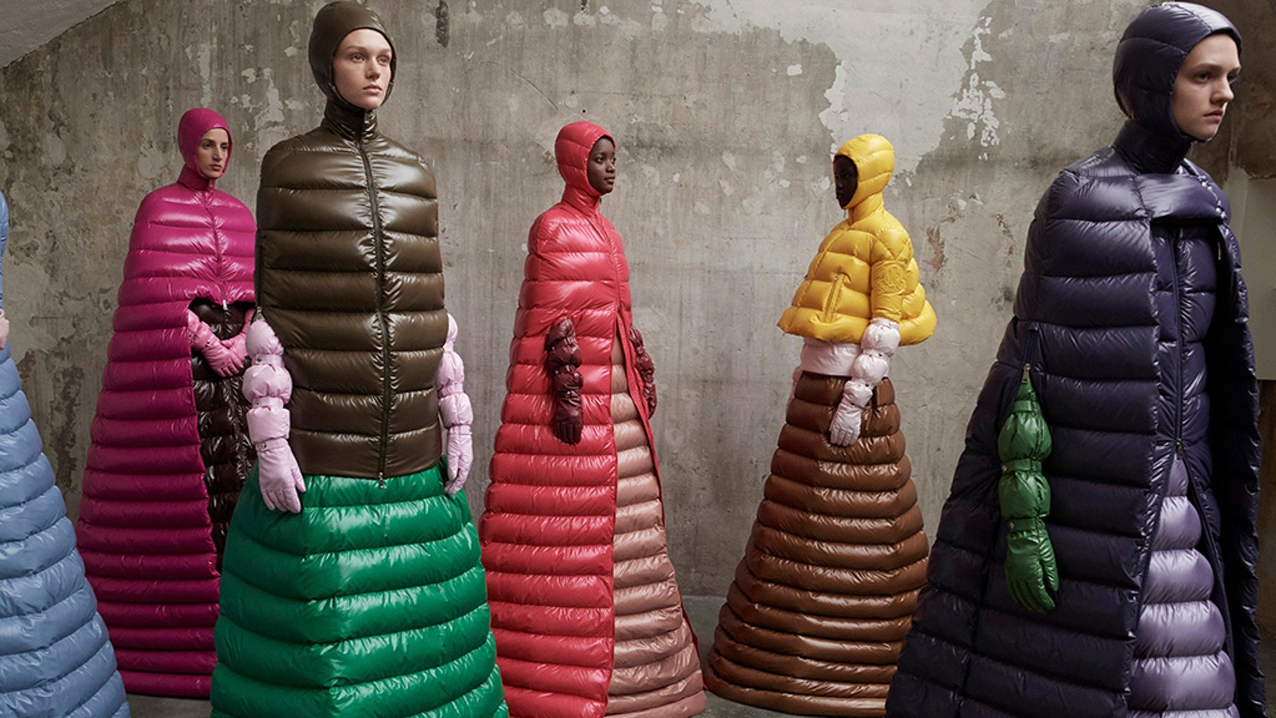 Moncler is getting the last laugh with their crazy long puffer coats.