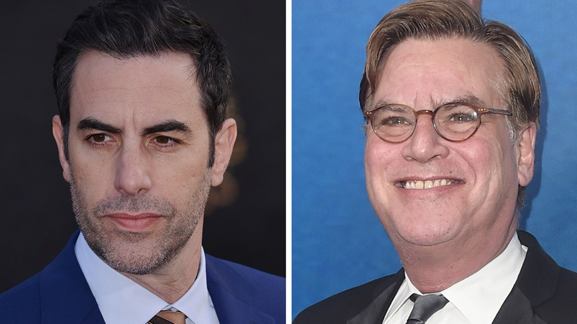 """Aaron Sorkin, right, and Sacha Baron Cohen's film """"The Trial of the Chicago 7"""" has hit another snag andwill be shelved, according to reports."""