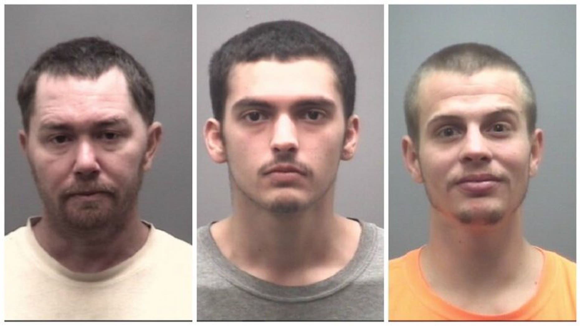 Sean Damion Castorina, 43, Shannon Douglas Gurkin, 23, and Dakota Lee Marek, 24, were charged for allegedly conspiring to blow up a jail to escape.