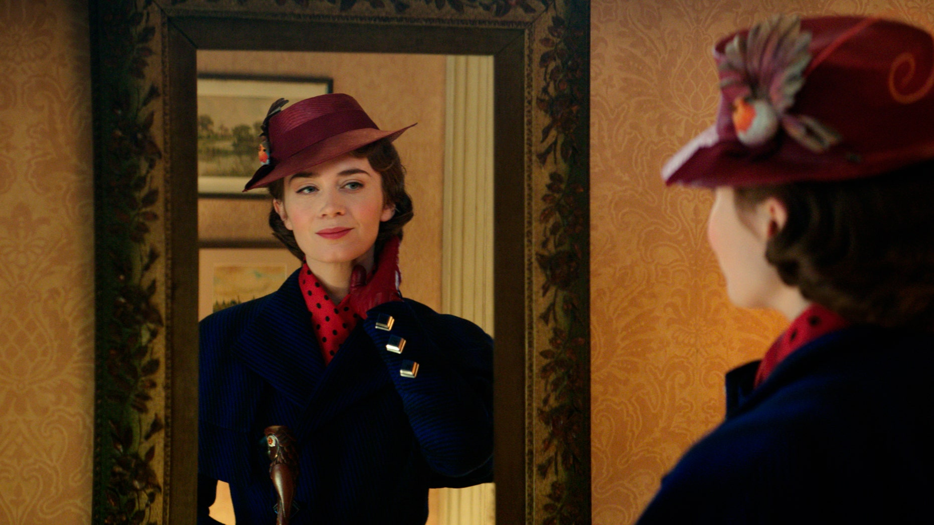 This image released by Disney presentations Emily Blunt as Mary Poppins in