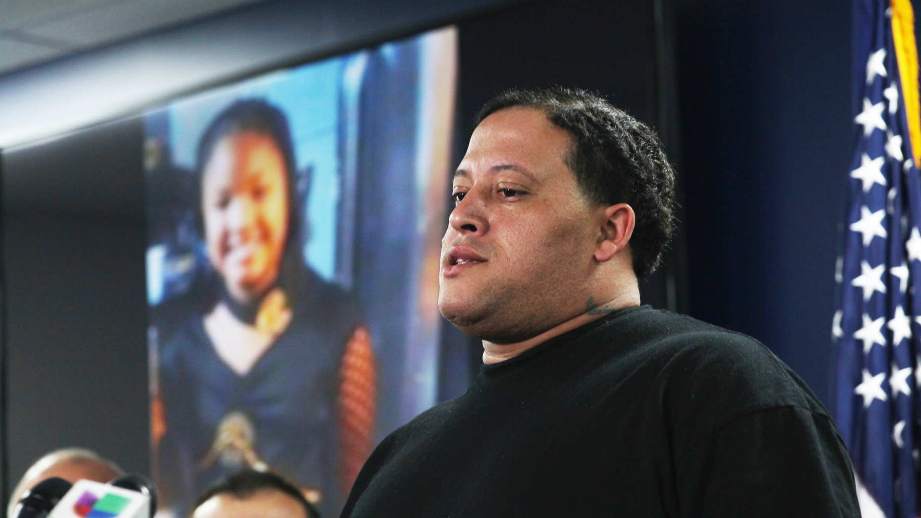 Christopher Cevilla, father of 7-year-old Jazmine Barnes, speaks during a news conference, Monday, Dec. 31, 2018, in Houston. Authorities are seeking a public's assistance in locating a male in a pickup lorry who pulled adult subsequent to a automobile that was withdrawal a Houston-area Walmart parking lot Sunday and started shooting, murdering Barnes inside a automobile and wounding a girl's mother. (Nicole Hensley/Houston Chronicle around AP)