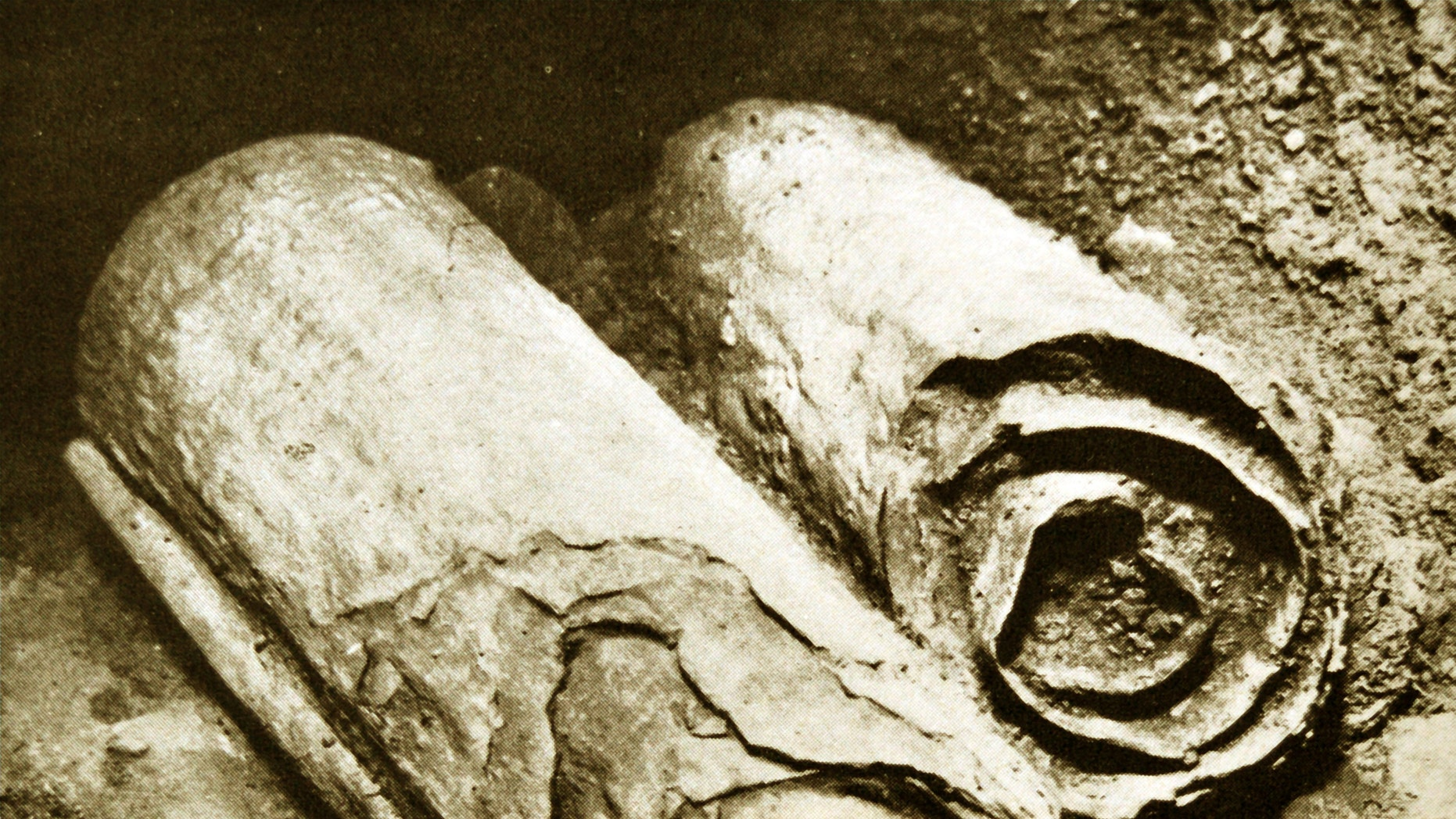 An excavation of The Dead Sea Scrolls in 1947.