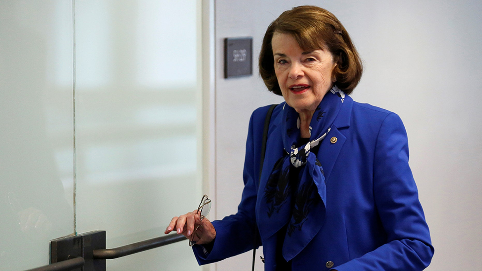 """United States Senator Diane Fainestein (D-Calif.) Arriving at a hearing by the Senate Intelligence Committee on the Capitol Hill in Washington, DC, May 1<div class=""""e3lan e3lan-in-post1""""><script async src=""""//pagead2.googlesyndication.com/pagead/js/adsbygoogle.js""""></script> <!-- Text_Image --> <ins class=""""adsbygoogle""""      style=""""display:block""""      data-ad-client=""""ca-pub-6192903739091894""""      data-ad-slot=""""3136787391""""      data-ad-format=""""auto""""      data-full-width-responsive=""""true""""></ins> <script> (adsbygoogle = window.adsbygoogle 