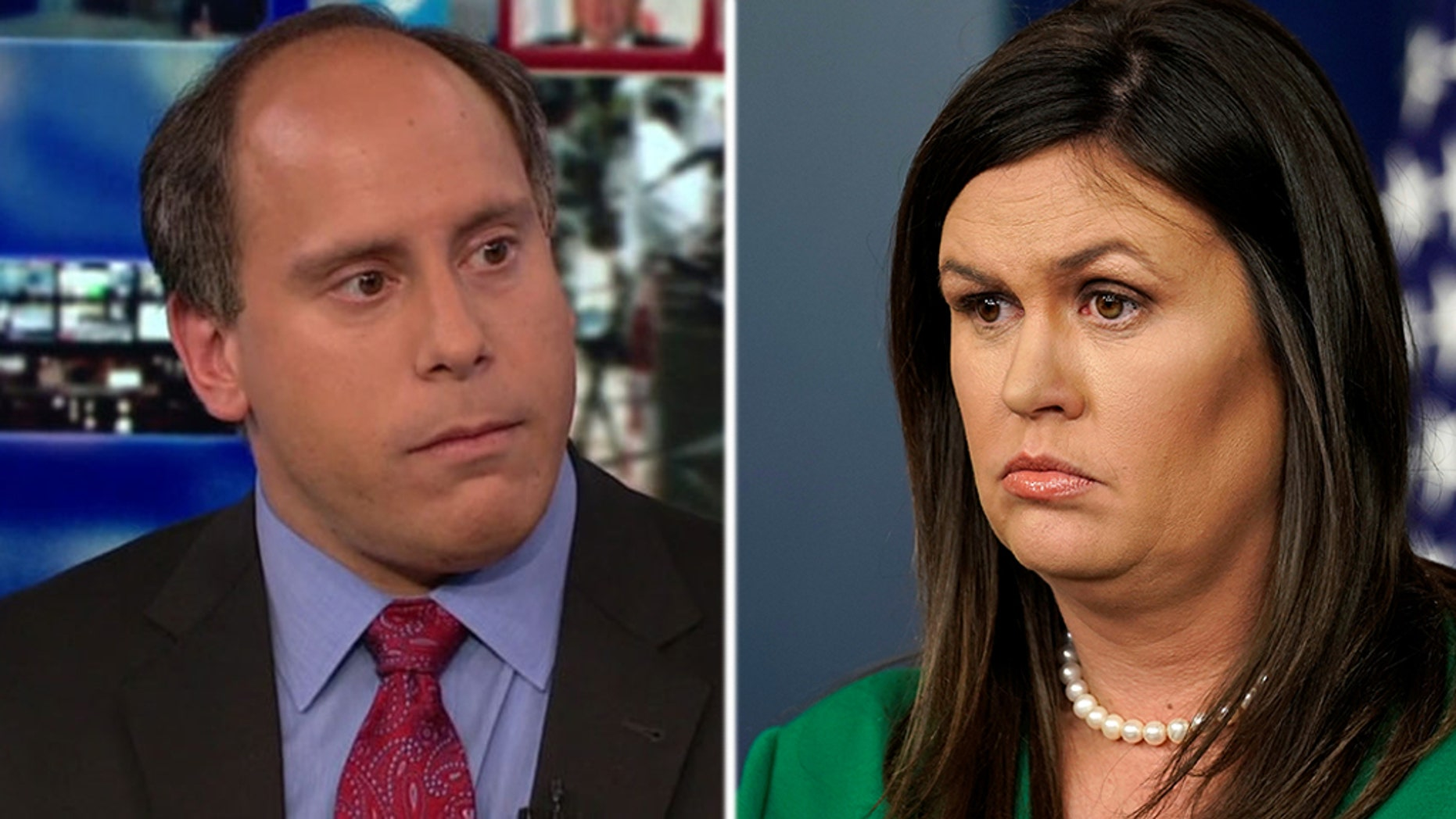 Reporter Andrew Feinberg shouted at White House Press Secretary Sarah Sanders following a press briefing on Tuesday.
