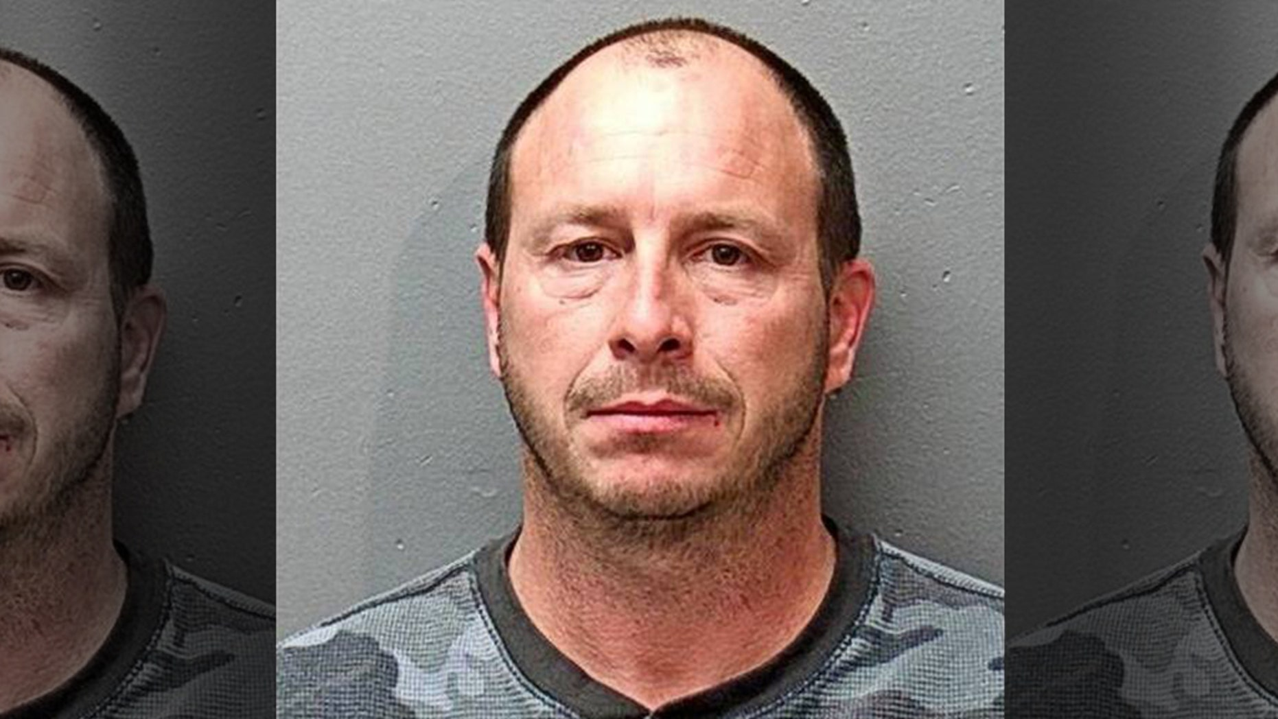 Gary Lykins, 44, was arrested after he allegedly shot his wife's laptop because she was playing music too loudly on it.