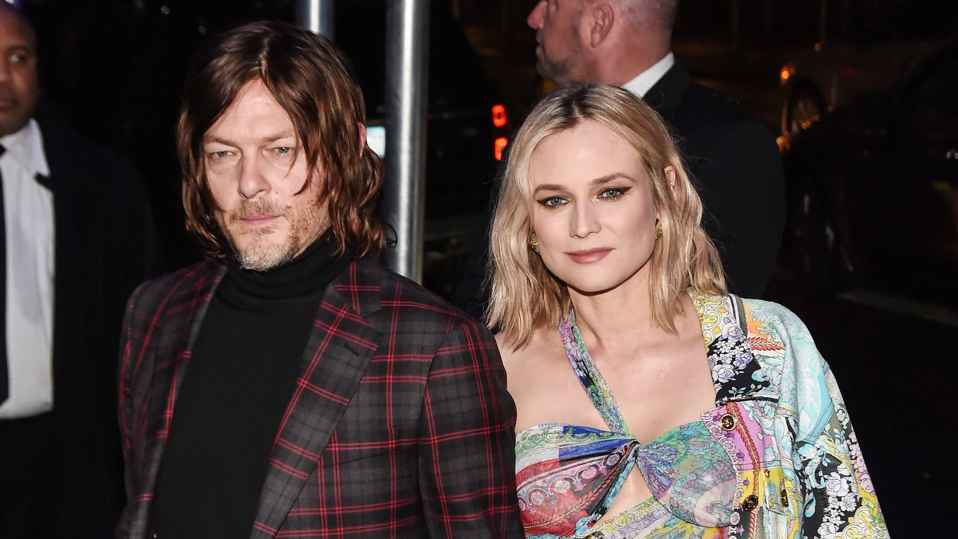 Norman Reedus shared the first photo of his newborn daughter with Diane Kruger.