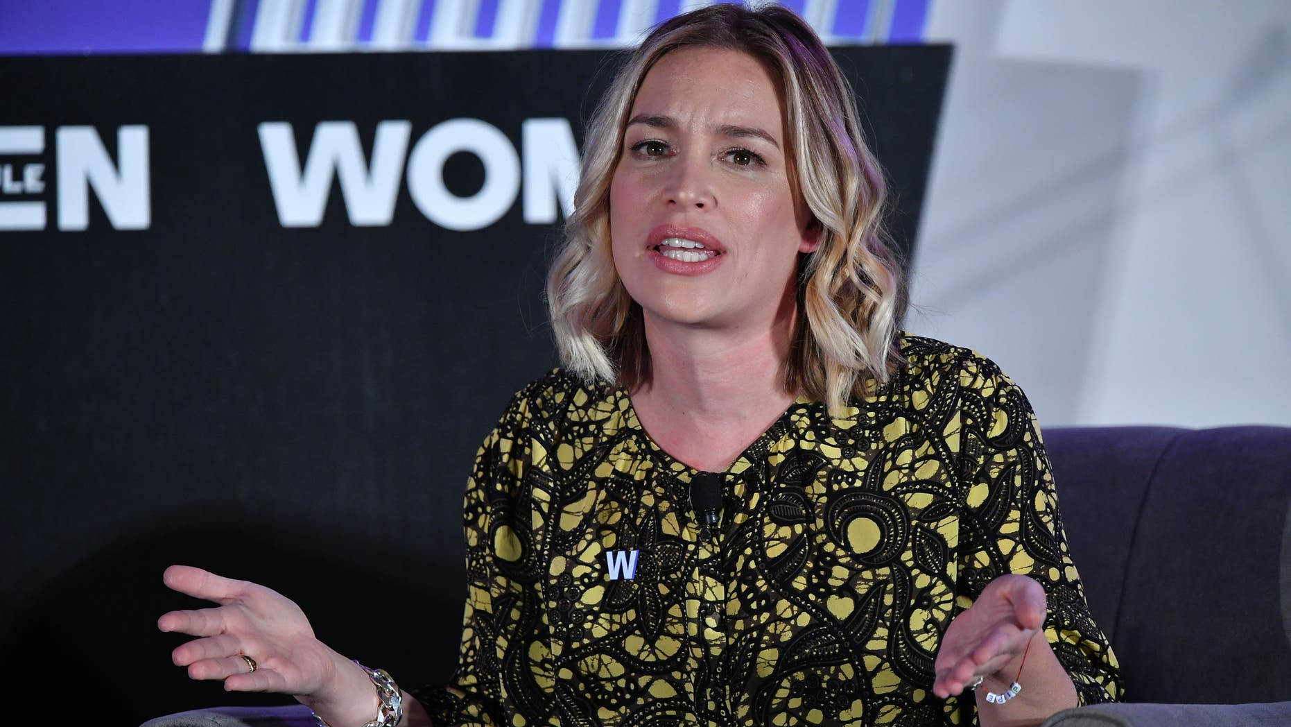 Actress Piper Perabo speaks at Politico's 6th Annual Women Rule Summit in Washington, DC on December 11, 2018.