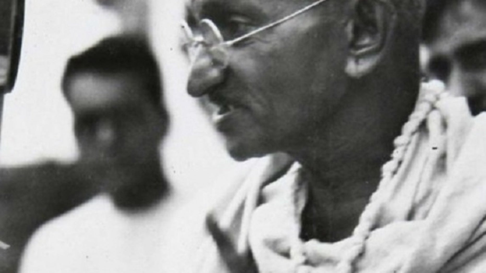 Mohandas K. Gandhi reportedly used a racial slur when referring to Africa's black population while he lived there, a report said.