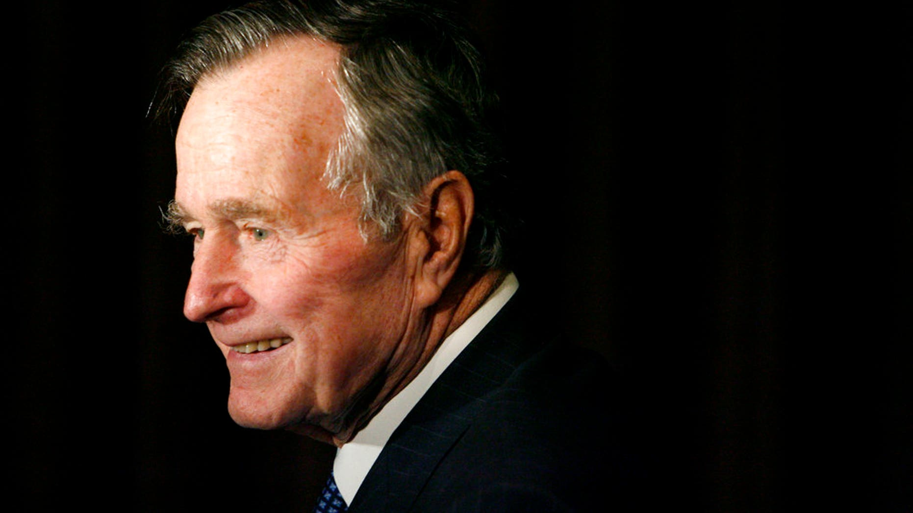 FILE - Former President George H.W. Bush. (AP Photo/Matt Sayles, File)