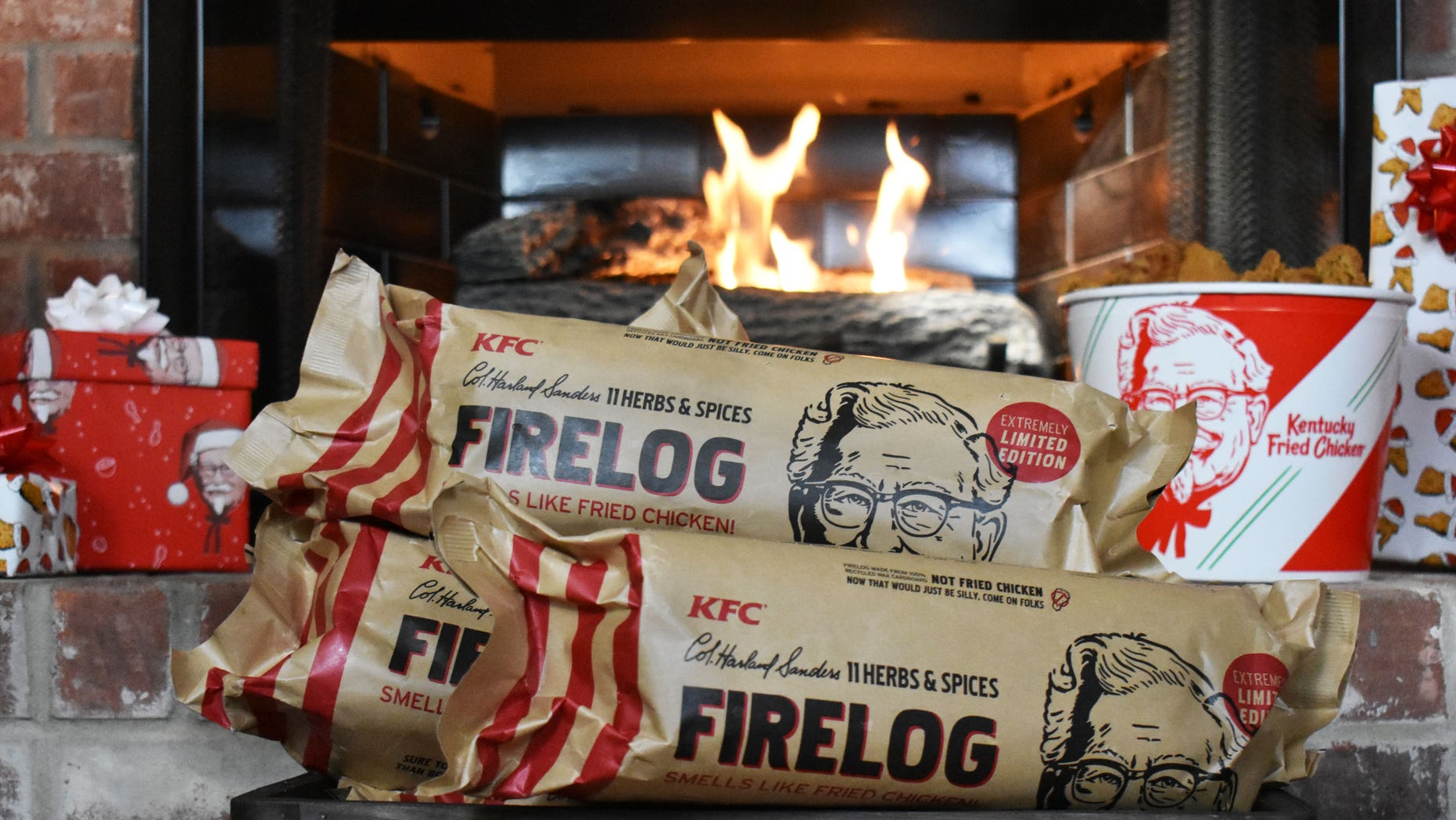 Just in time for the holiday, the chicken chain is debuting its very own KFC-scented Enviro-Log.