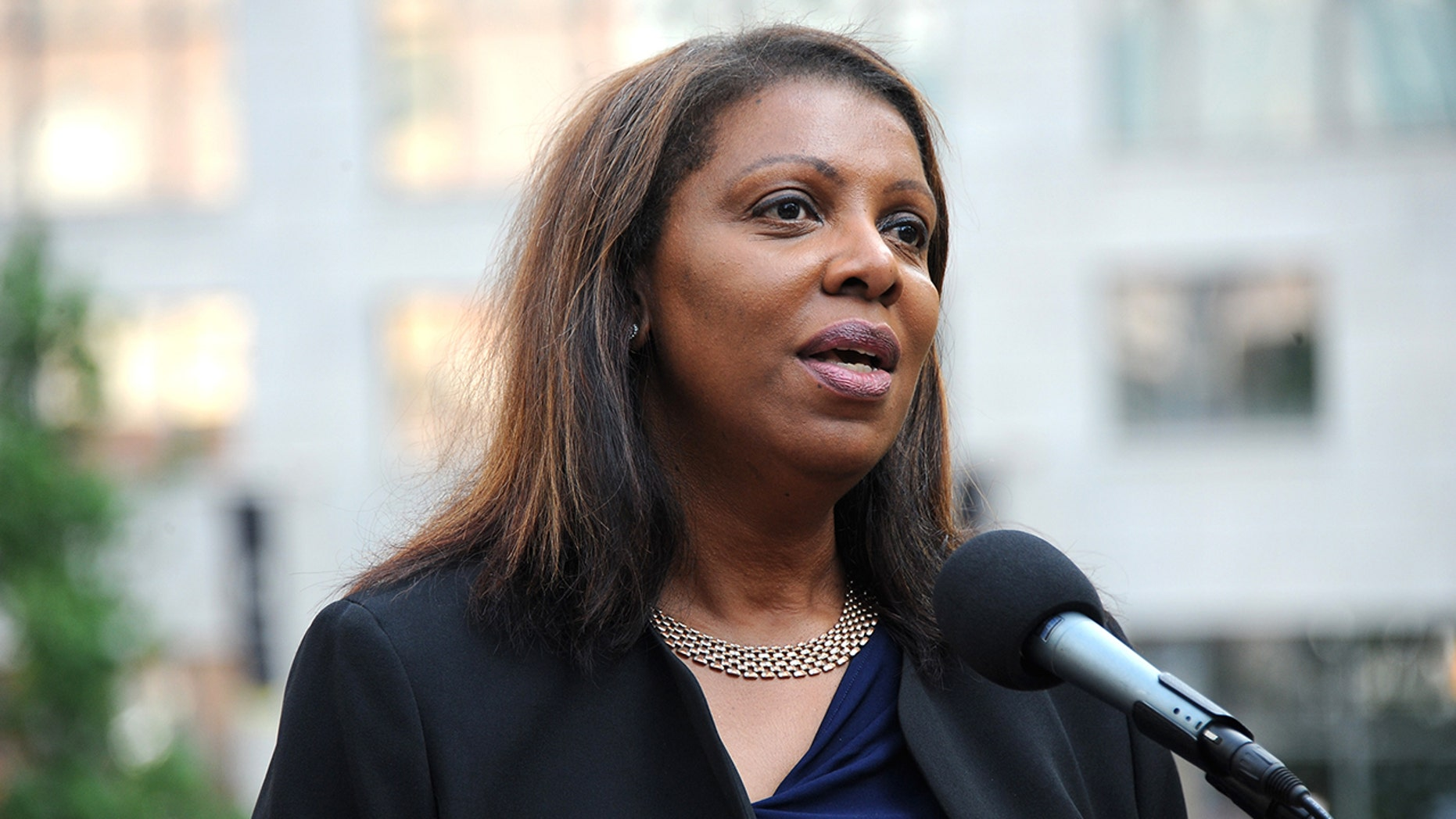 Letitia James, now New York's attorney general, speaksin New York City in this 2017 file photo. (Photo by Desiree Navarro/Getty Images)