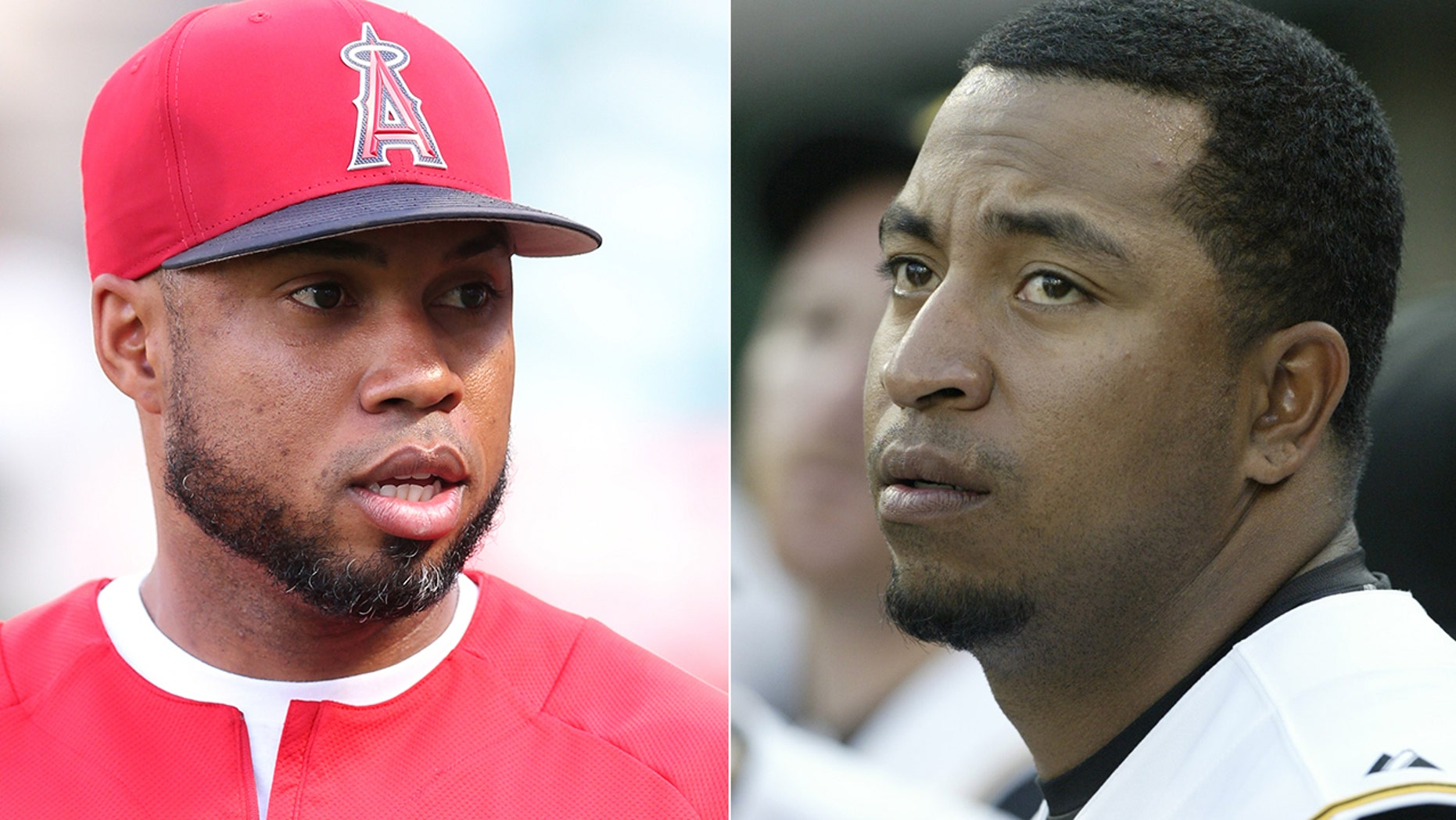 The former MLB player Luis Valbuena, left, and Jose Castillo were killed in a car accident Thursday