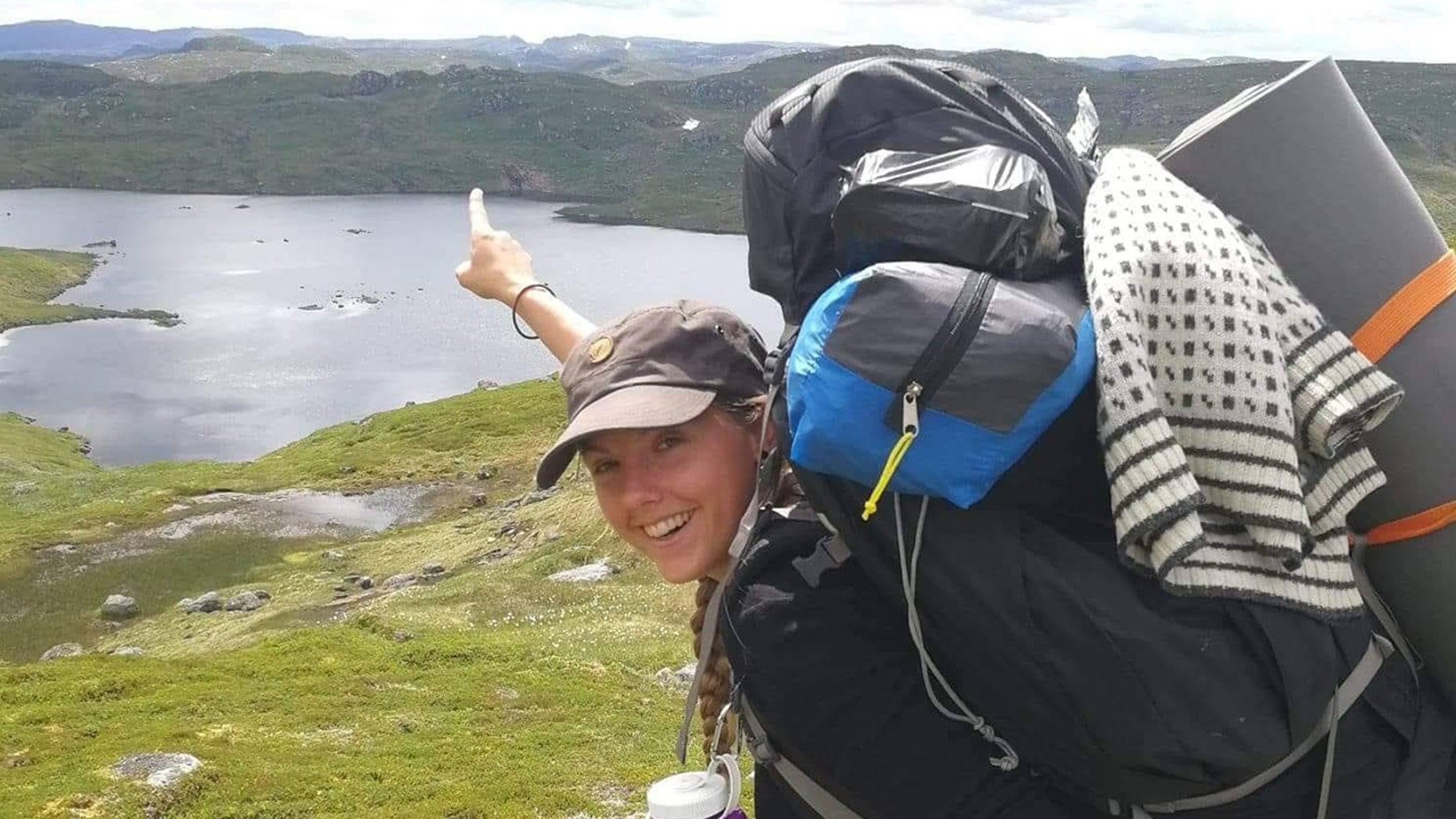 Maren Ueland, 28, from Denmark, was attacked while sleeping in her tent Monday, police believe