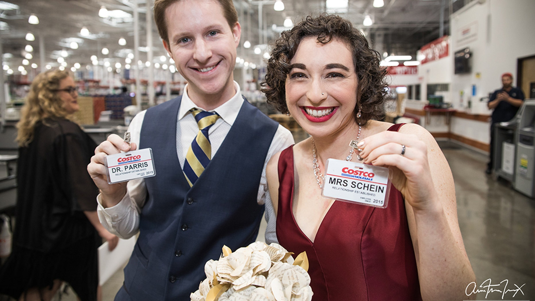 "On Nov. 29, Margot Schein and Julian Parris said ""I do"" at a Costco in the Mission Valley neighborhood of San Diego."