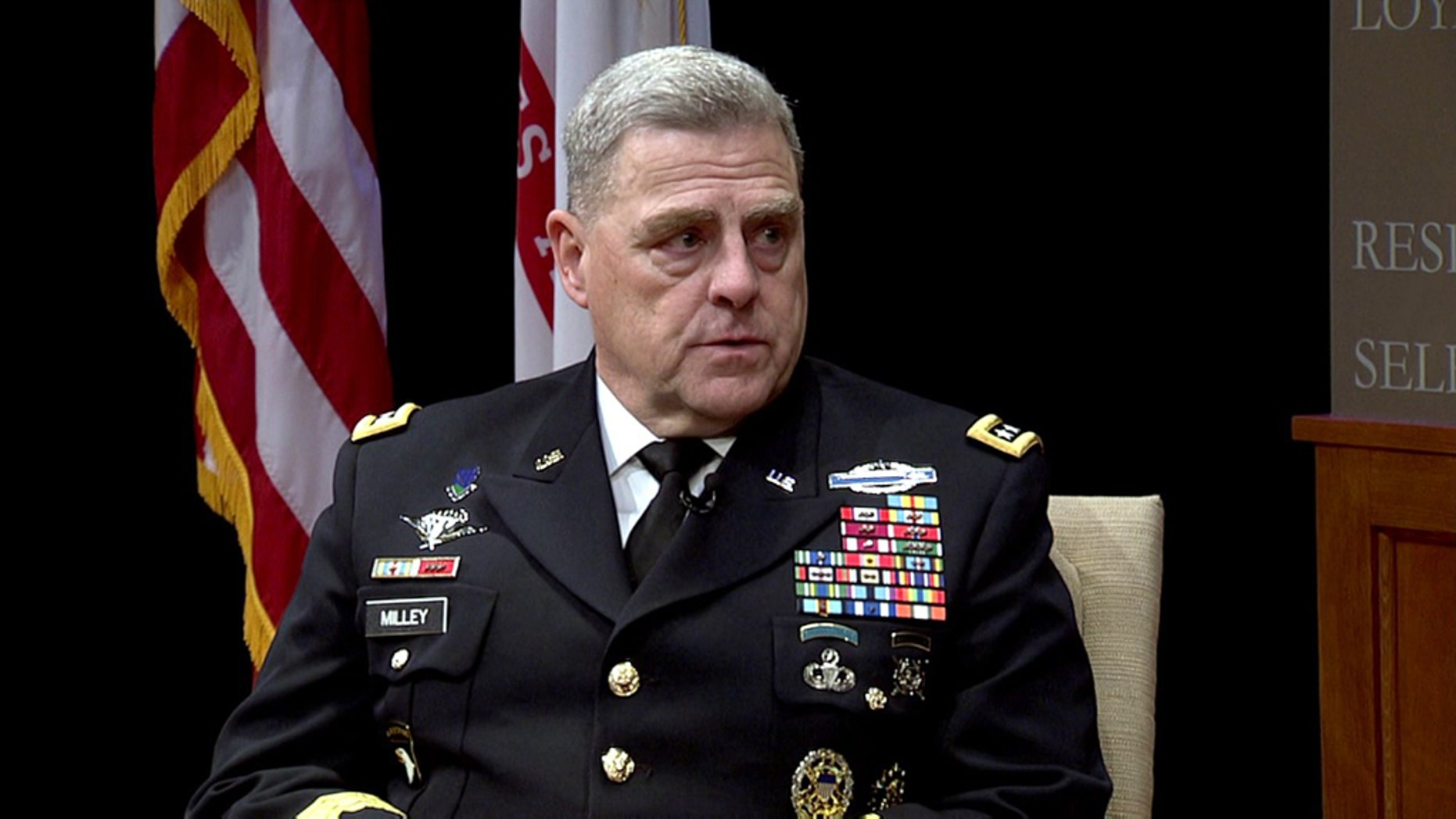 President Trump will name Army Chief of Staff Gen. Mark Milley to succeed Chairman of the Joint Chiefs of Staff Gen. Joseph Dunford, Fox News has learned.  (YouTube)
