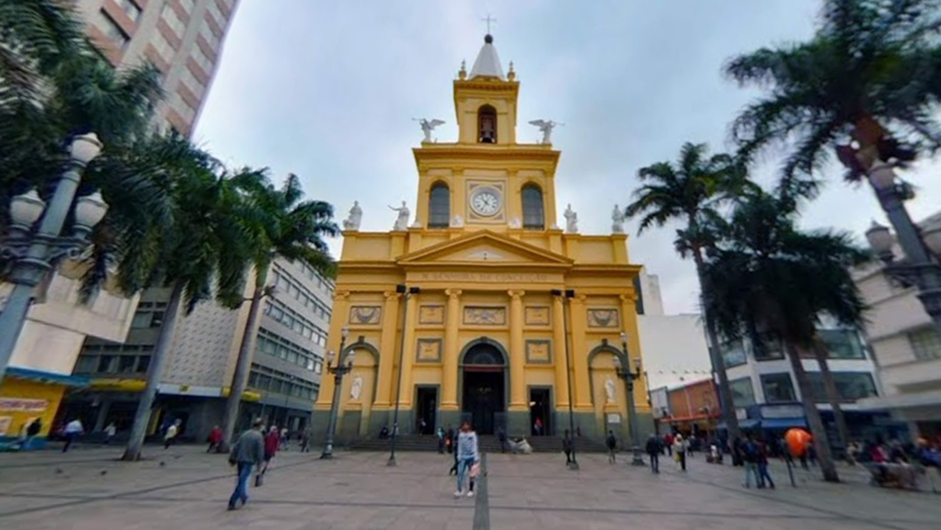 A gunman opened fire inside the Metropolitan Cathedral of Campinas in Brazil, killing four and injuring four before turning the gun on himself.